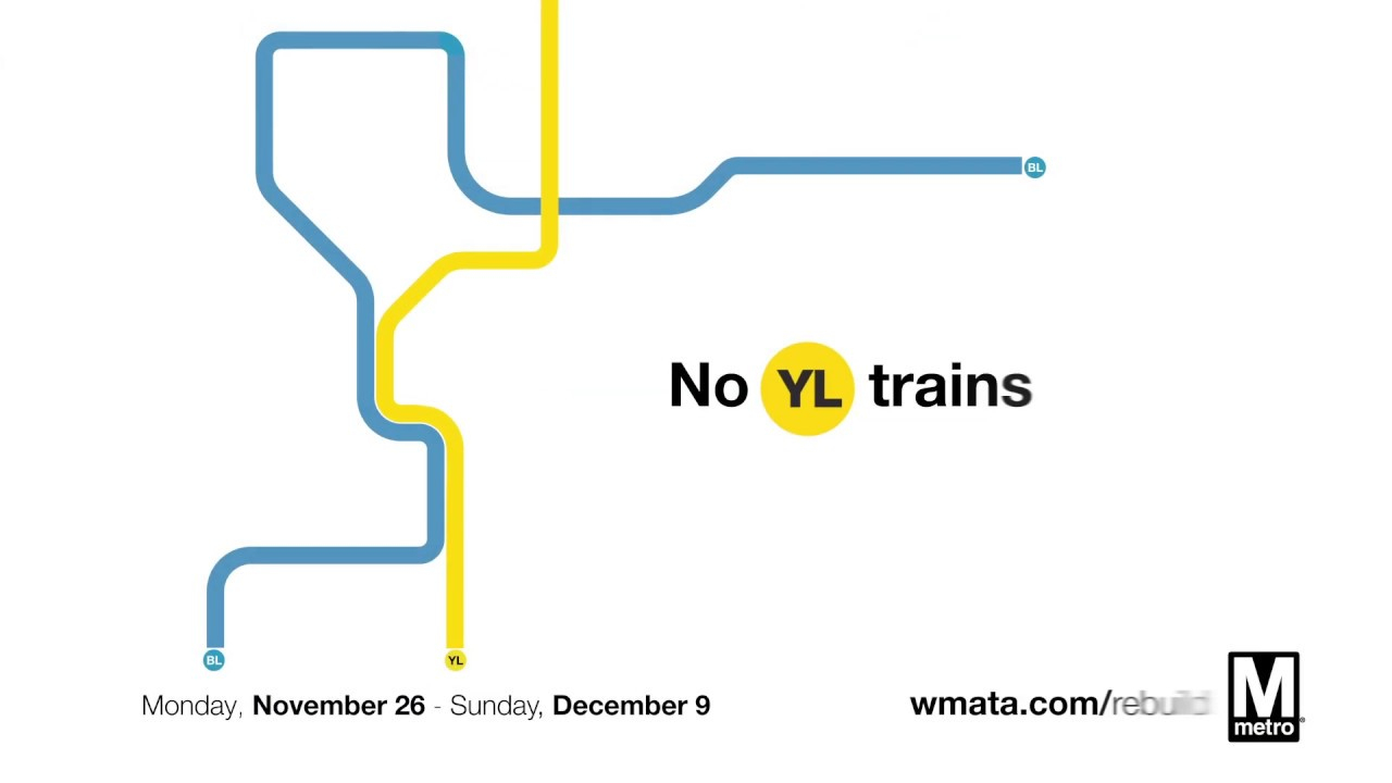 Metro Reminds Customers: No Yellow Line Service Nov 26 – Dec dedans Rebus Enfant