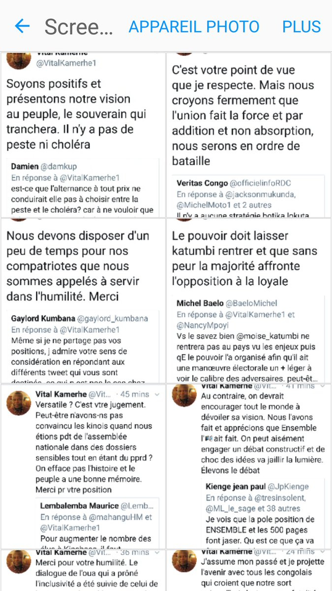 """Michel Moto's Tweet - """"#rdc 🔴débatcitoyen Le Président concernant Question Reponse Jeu"""
