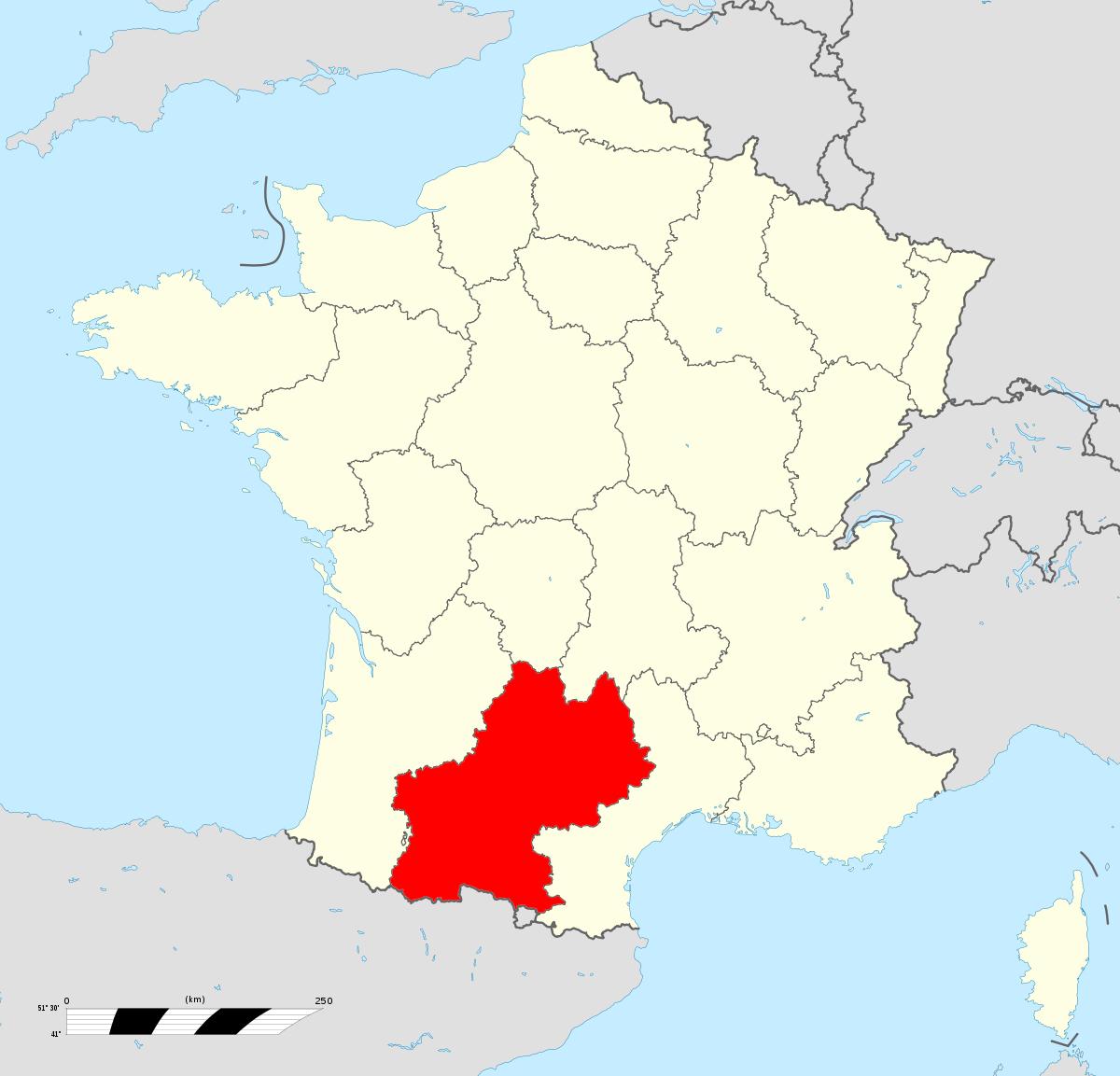 Midi-Pyrénées — Wikipédia dedans Liste Des Régions Françaises