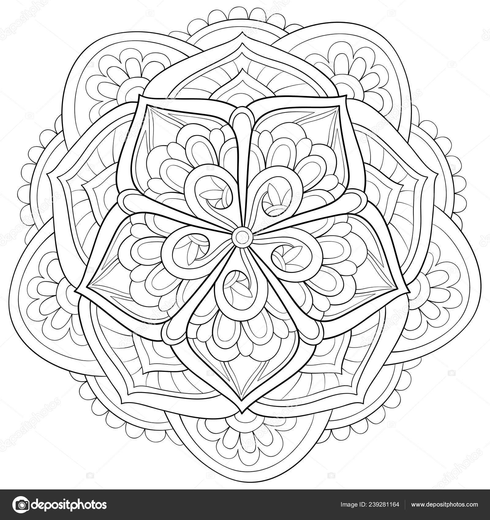 Mignon Mandala Zen Avec Image Ornements Pour Les Adultes concernant Livre De Coloriage À Imprimer