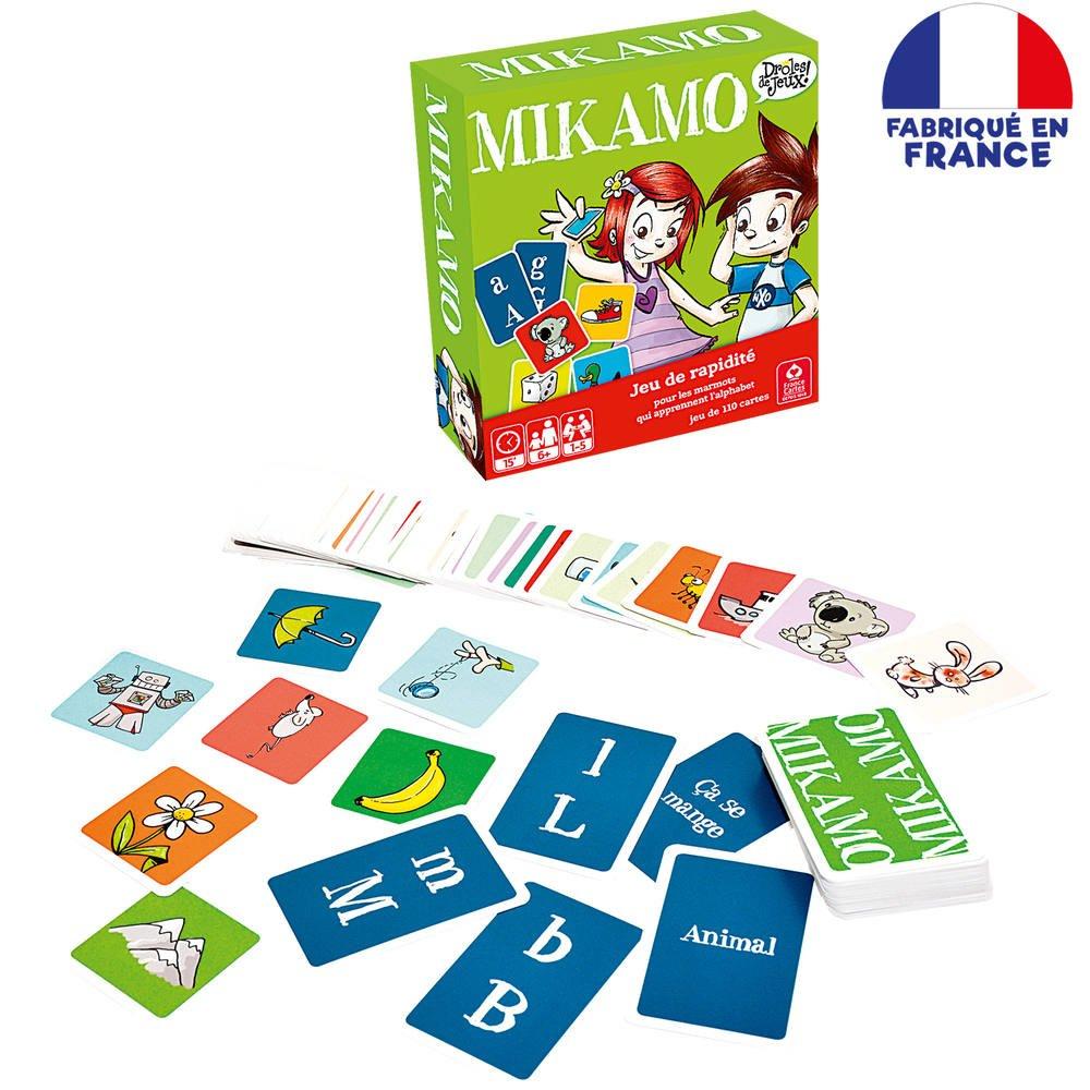 Mikamo Jeu De Rapidite Educatif 110 Cartes concernant Jeu Carte De France