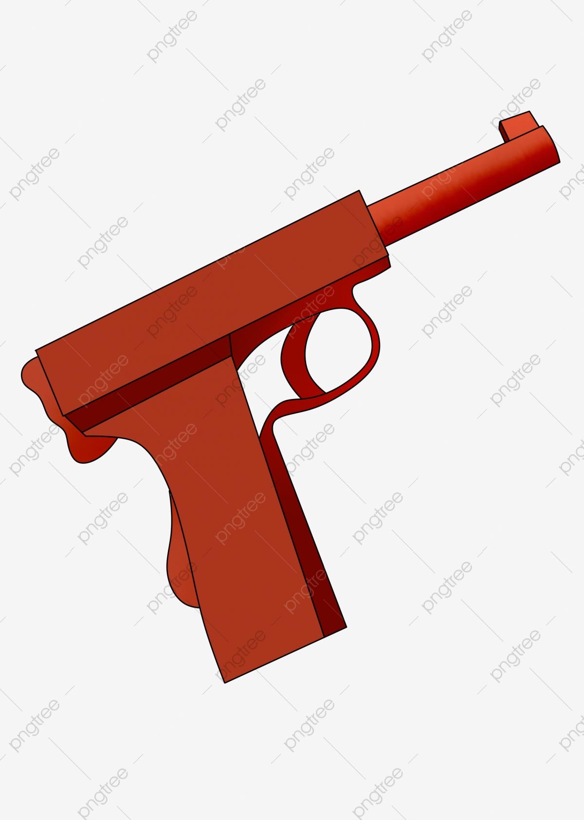 Militaire Pistolet De Police Dessin Animé Pistolet Rouge, De destiné Comment Dessiner Un Fusil