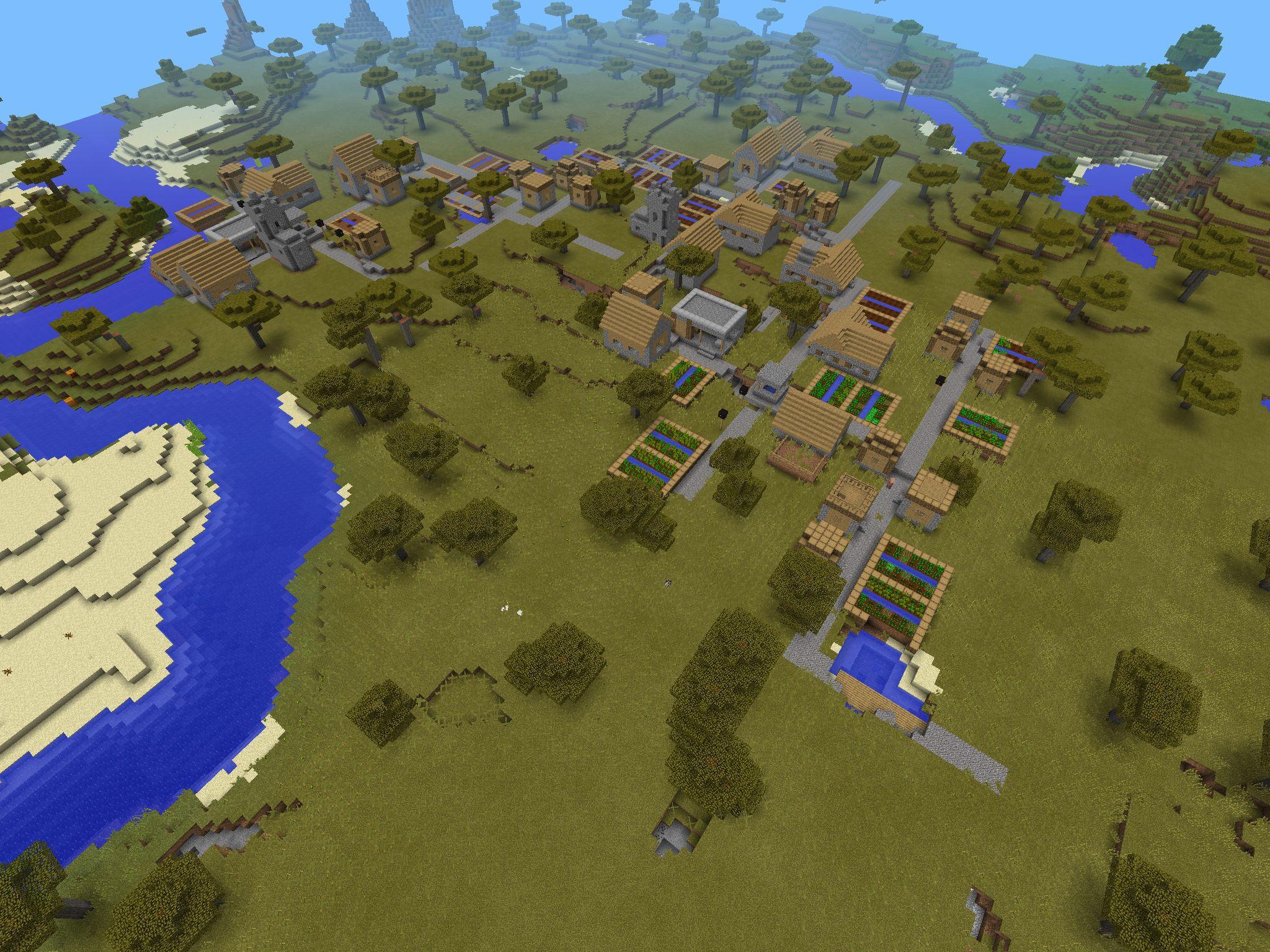 Minecraft Pe- Massive Village Seed!!! Seed-1388582293 I Used concernant Jeux Gratuit De Village