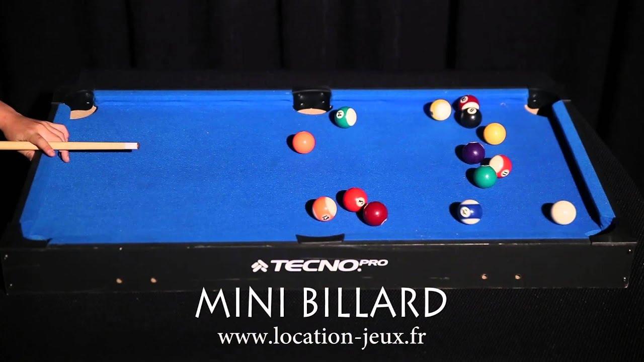 Mini Billard Américain De Table : Jeu En Location Pour Votre Fête tout Jeux De Biyare