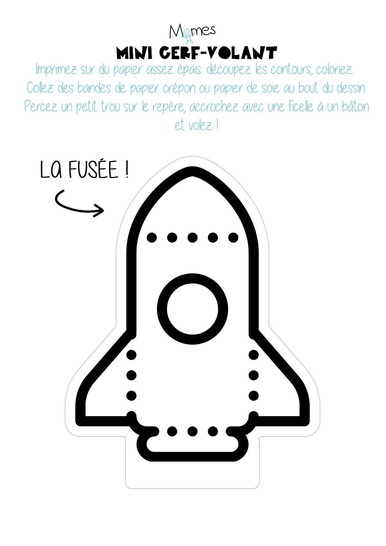 Mini Cerf-Volant Fusée À Imprimer | رياض | Space Party pour Fusée À Imprimer