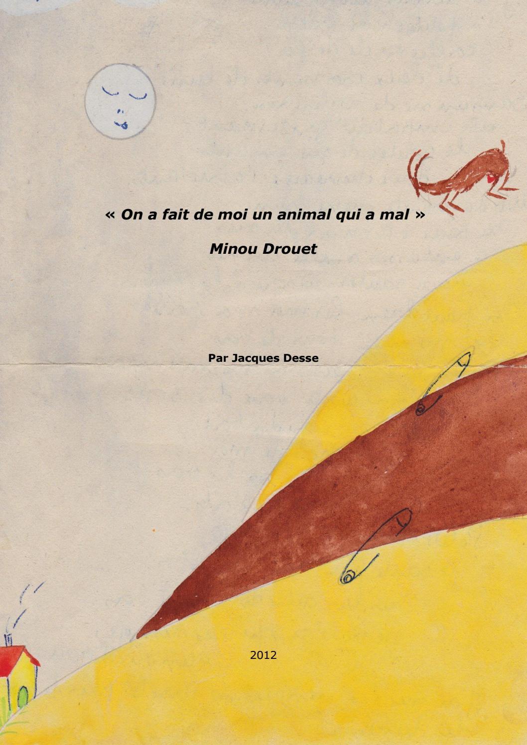 """Minou Drouet : """"on A Fait De Moi Un Animal Qui A Mal"""" By encequiconcerne Minou Dessin"""