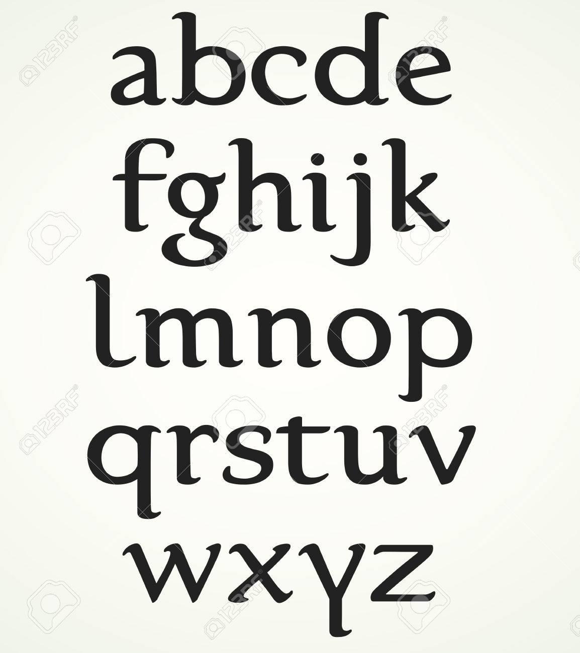 Minuscule Alphabet Inspired By The Foundational Hand. Majuscule.. à Alphabet Script Minuscule