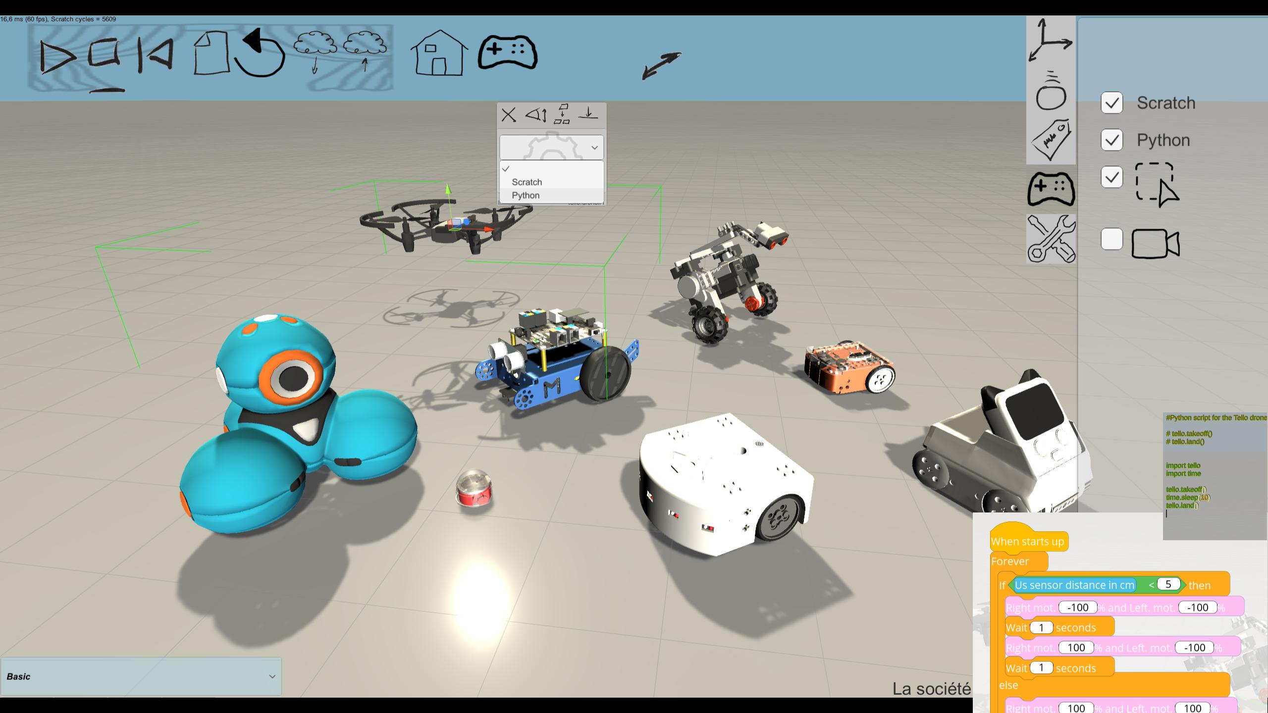 Miranda: Logiciel De Simulation Robot Éducatif Et Robotique pour Logiciel Éducatif En Ligne