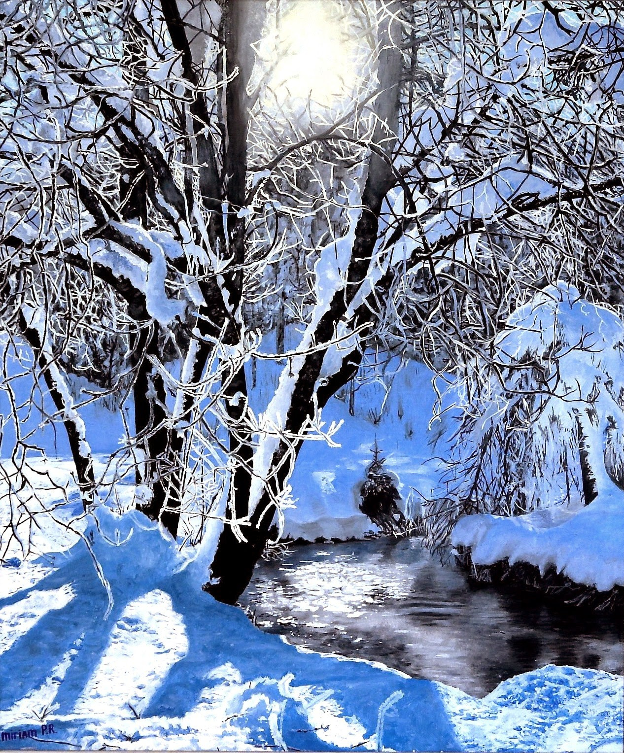 """Miriam Peters-Rouyer """"artiste-Peintre"""" : """"paysage D'hiver destiné Dessin De Paysage D Hiver"""