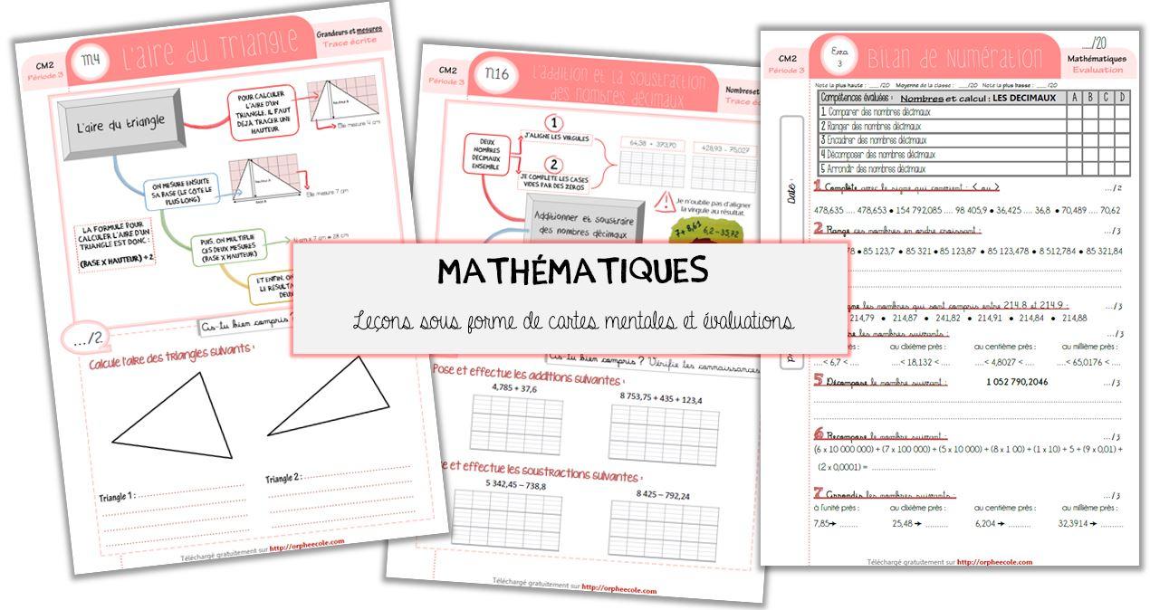 Mise À Jour : Mes Leçons (Sous Forme De Carte Mentale) Et avec Symétrie Cm1 Évaluation