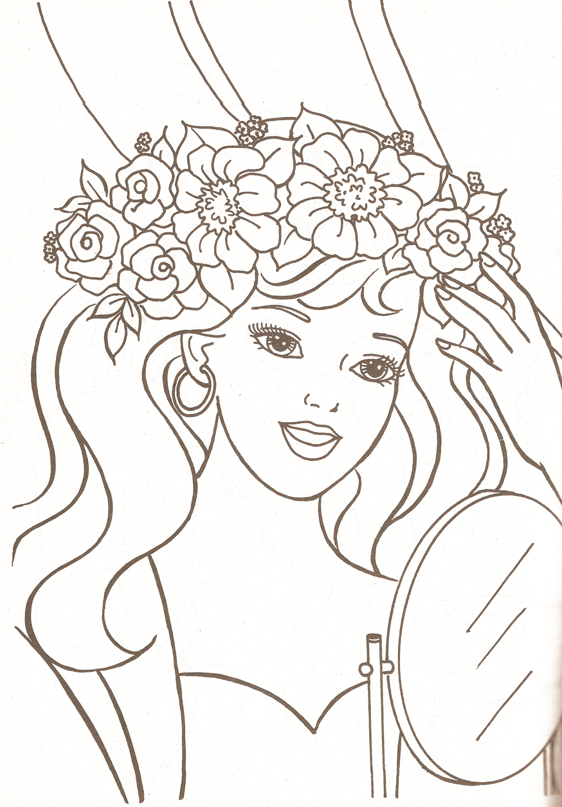 Miss Missy Paper Dolls: Barbie Coloring Pages Part 1 à Visage À Colorier