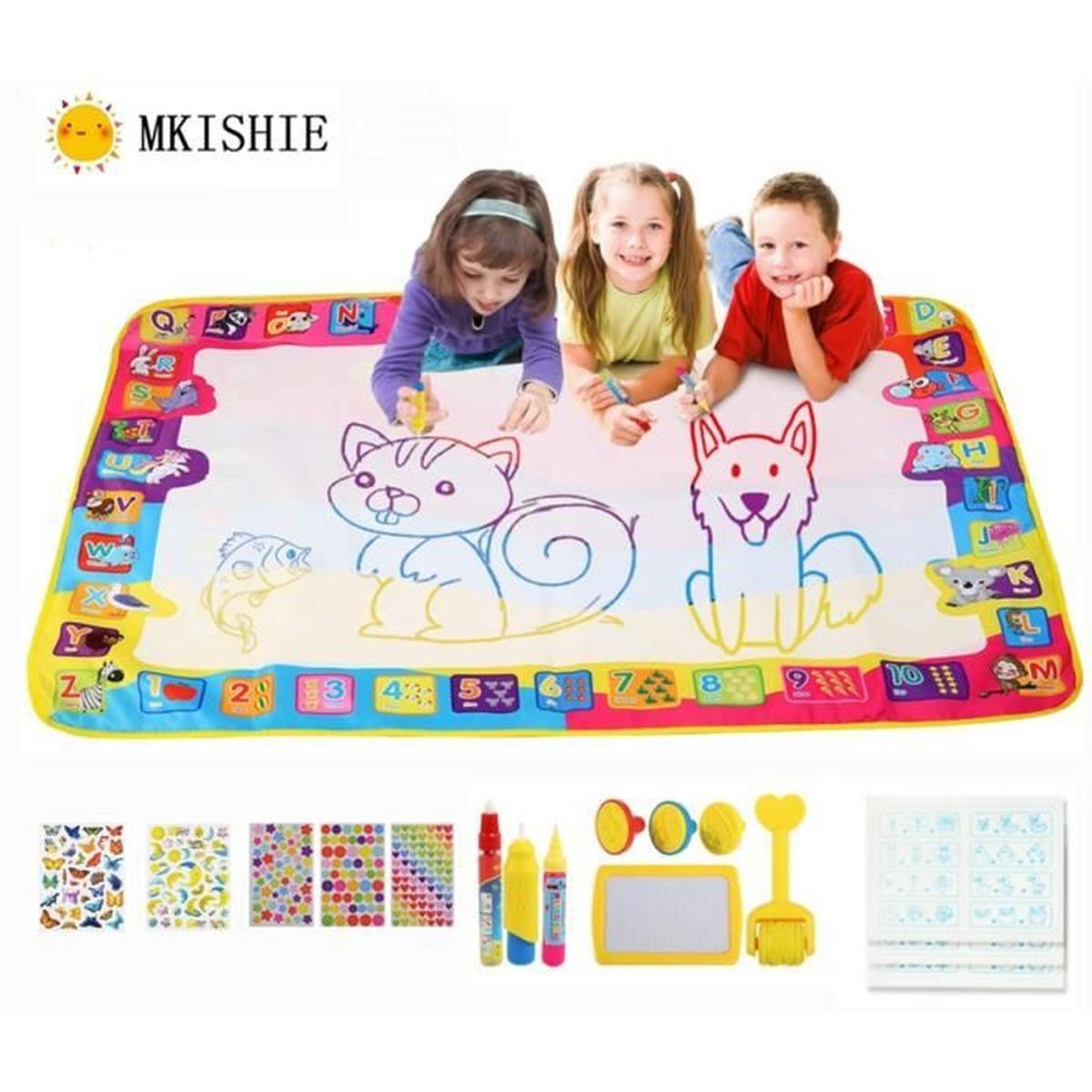 Mkishine® Tapis Dessin Aquadoodle, 100*70Cm Enfant Doodle concernant Jeux Enfant Dessin