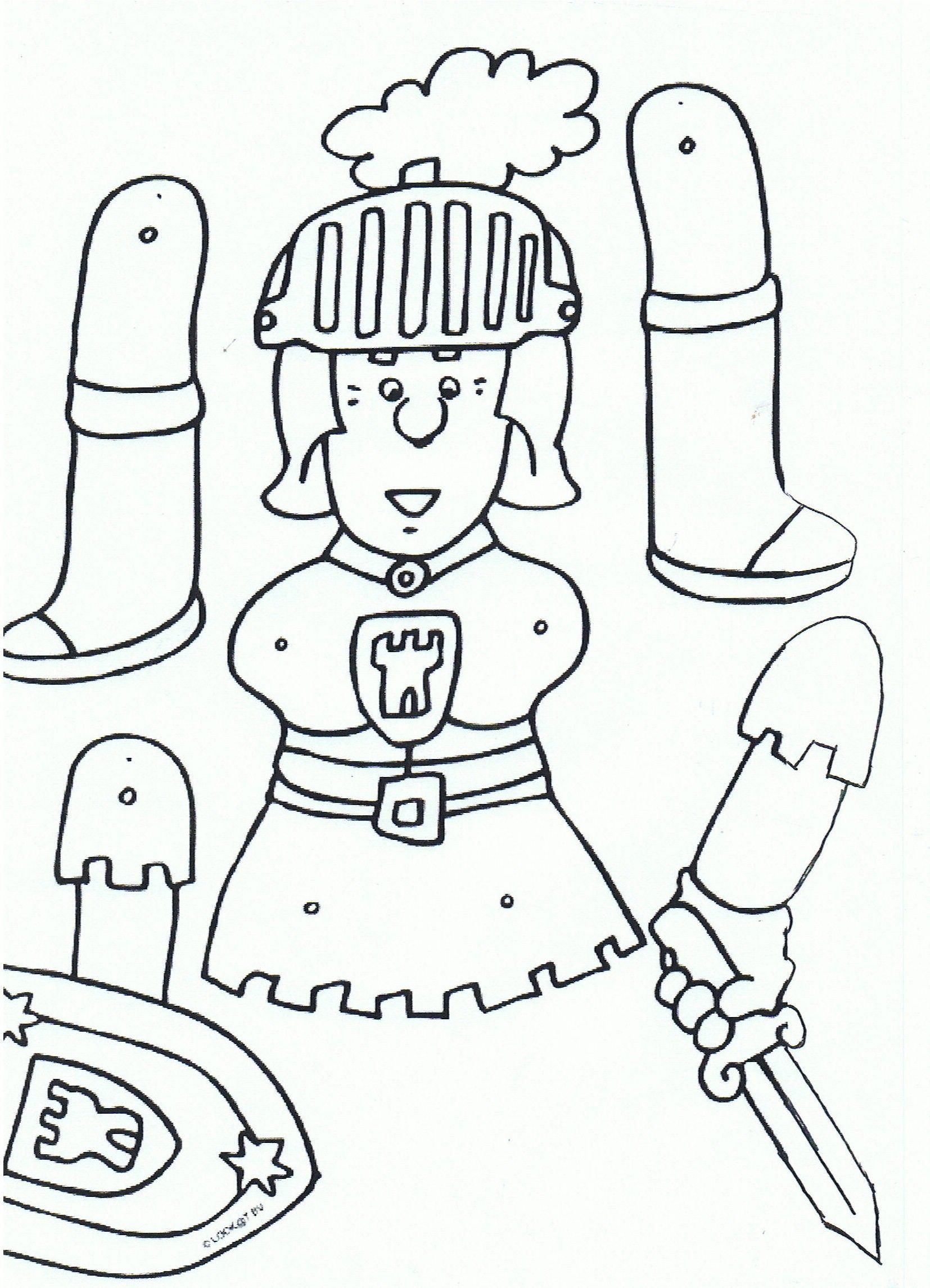 Mobile De Chevaliers En Armure | Pantin, Coloriage Chateau destiné Pantin Articulé Patron