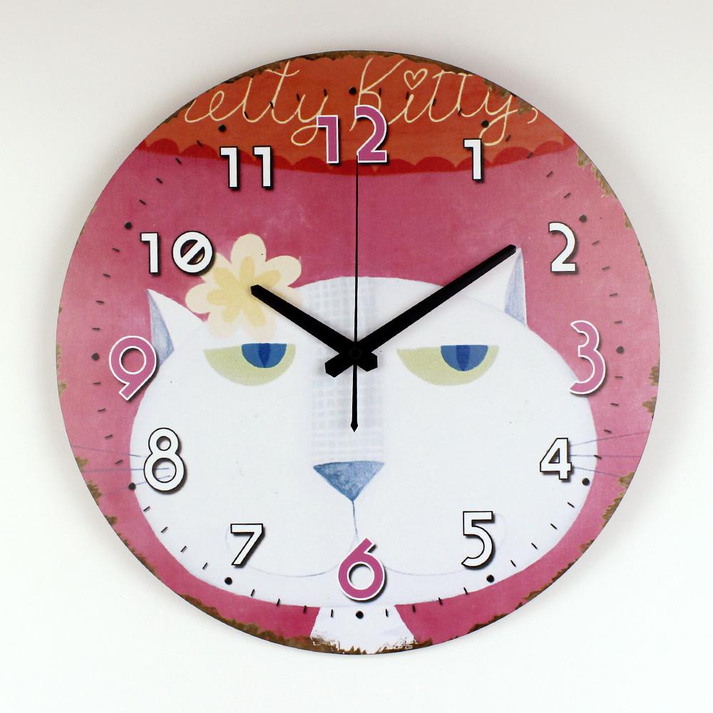 Mode Horloge Salon Muet Horloge Personnalisée Horloge À à Dessin D Horloge