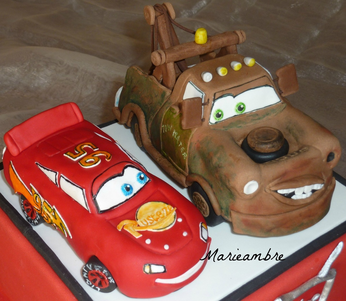 Modelage Martin Et Flash Mcqueen (Cars) - Le Blog De Marieambre concernant Flash Mcqueen Martin