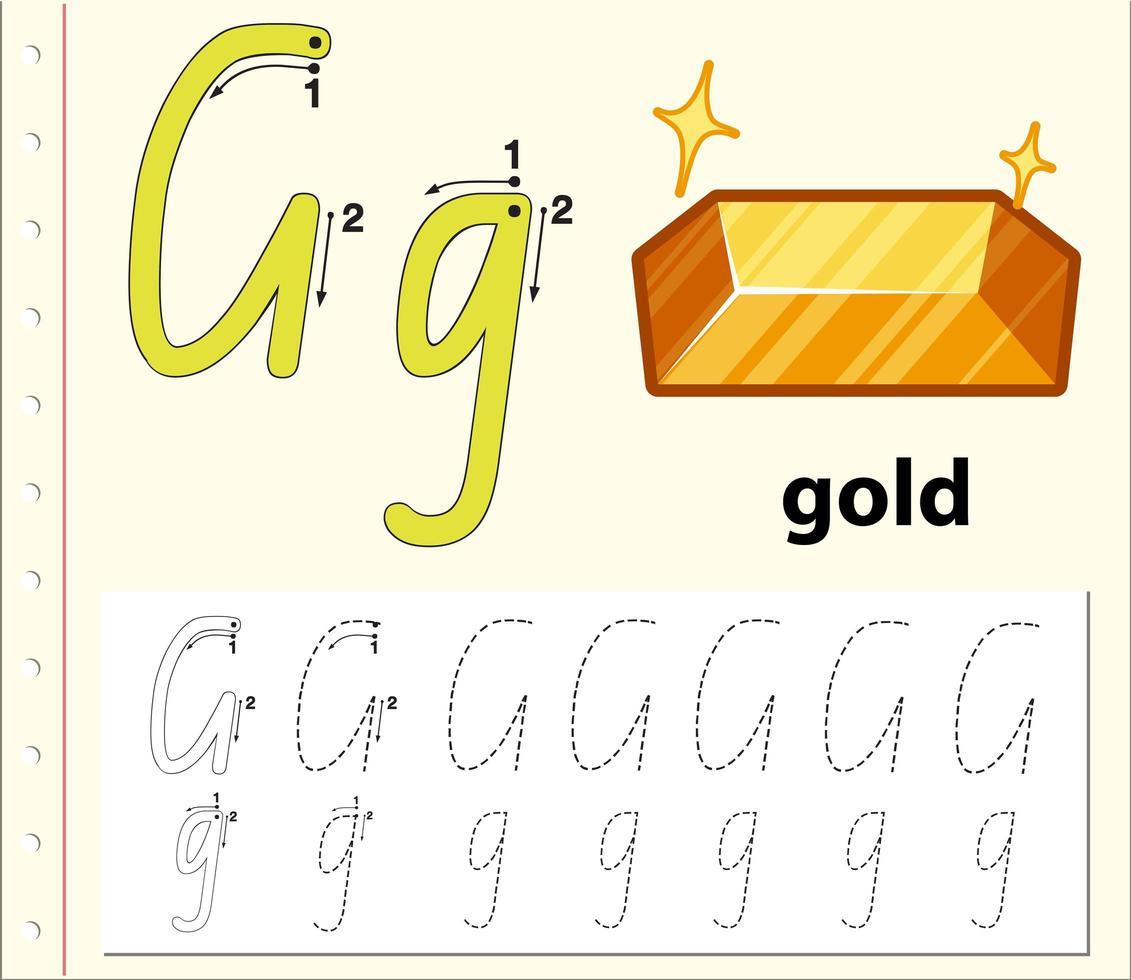 Modèle D'alphabet De Traçage Pour La Lettre G à Modele De Lettre Alphabet