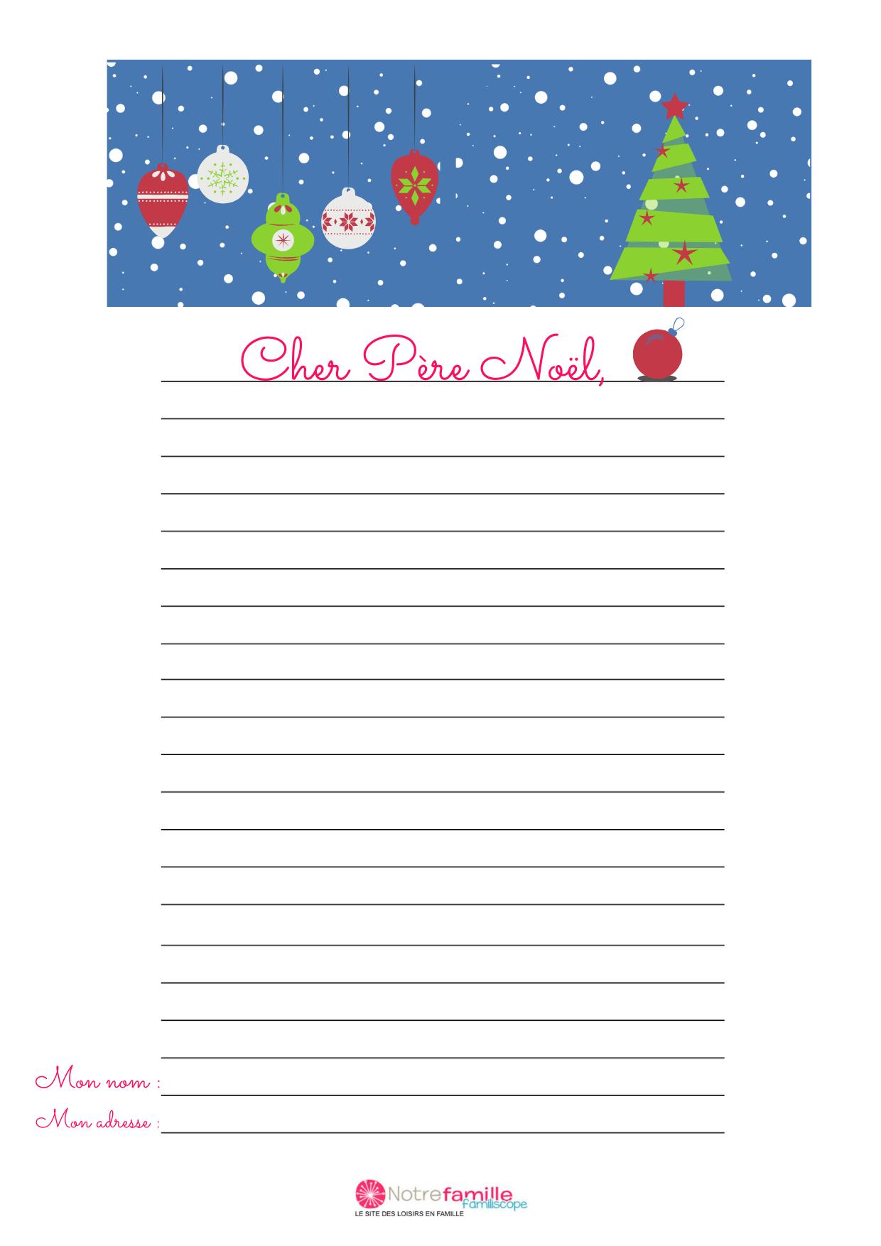 Modèle De Lettre Au Père Noël À Imprimer : Le Sapin De Noël avec Gabarit Sapin De Noel A Imprimer