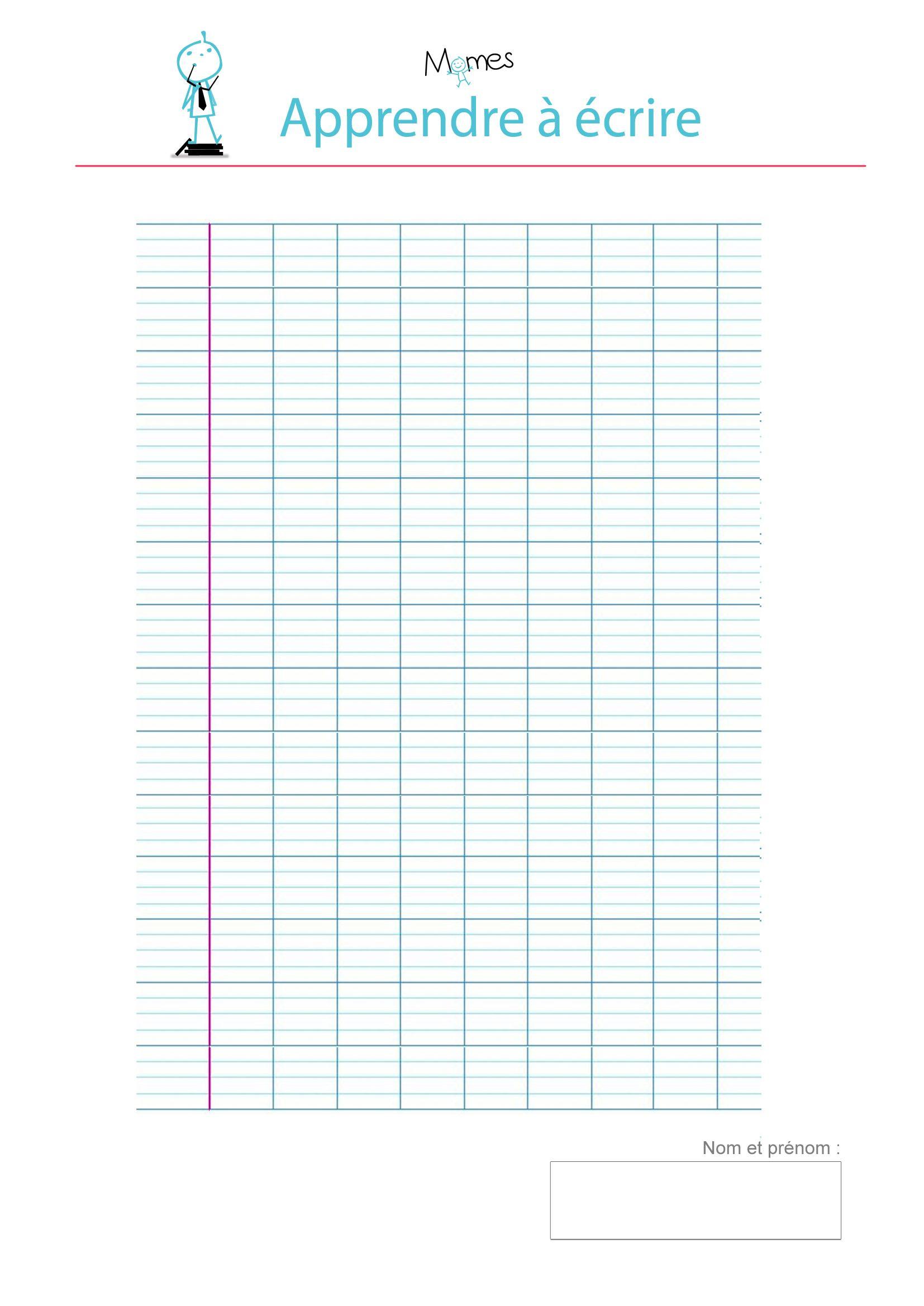 Modèle De Lignes Cursives Vierge À Imprimer   Modele dedans Cahier D Écriture Cp À Imprimer