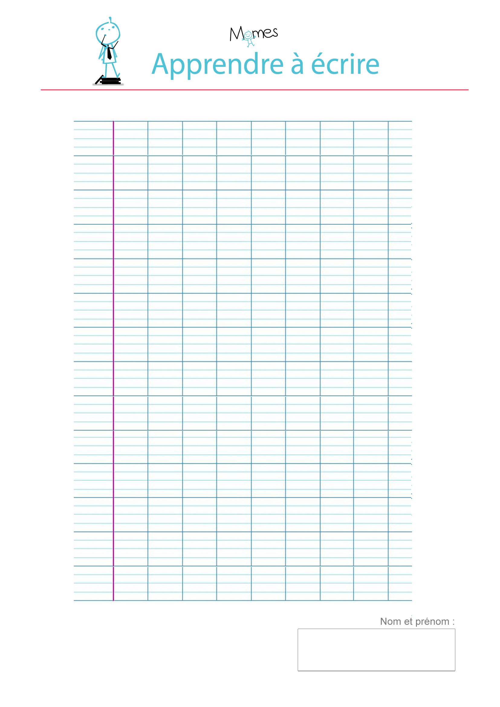 Modèle De Lignes Cursives Vierge À Imprimer - Momes à Cours Ce1 Gratuit A Imprimer