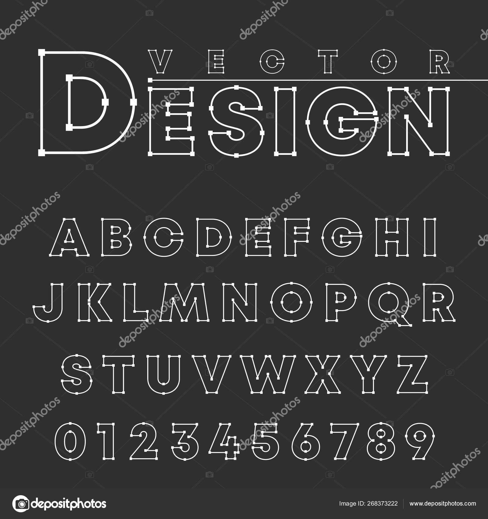 Modèle De Police D'alphabet De Conception Vectorielle pour Modèle D Alphabet