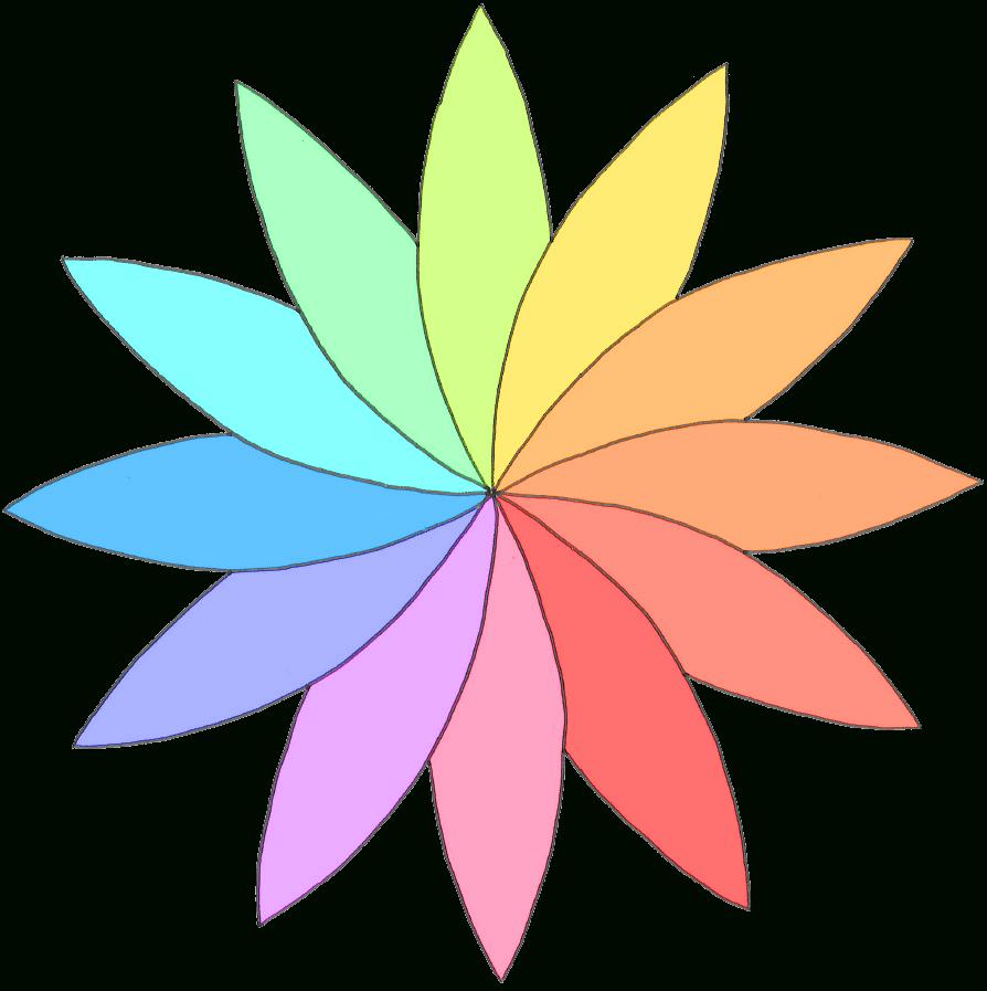 Modèle De Rosace En Fleur De Pâquerette Colorée - Dix Petits encequiconcerne Image De Rosace