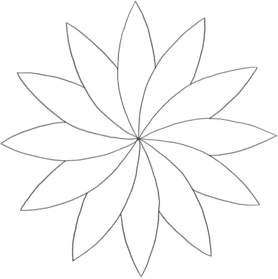 Modèle De Rosace En Fleur De Pâquerette Colorée - Dix Petits serapportantà Dessiner Une Rosace