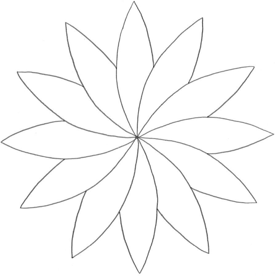 Modèle De Rosace En Fleur De Pâquerette Colorée | Paquerette encequiconcerne Modèles De Dessins À Reproduire