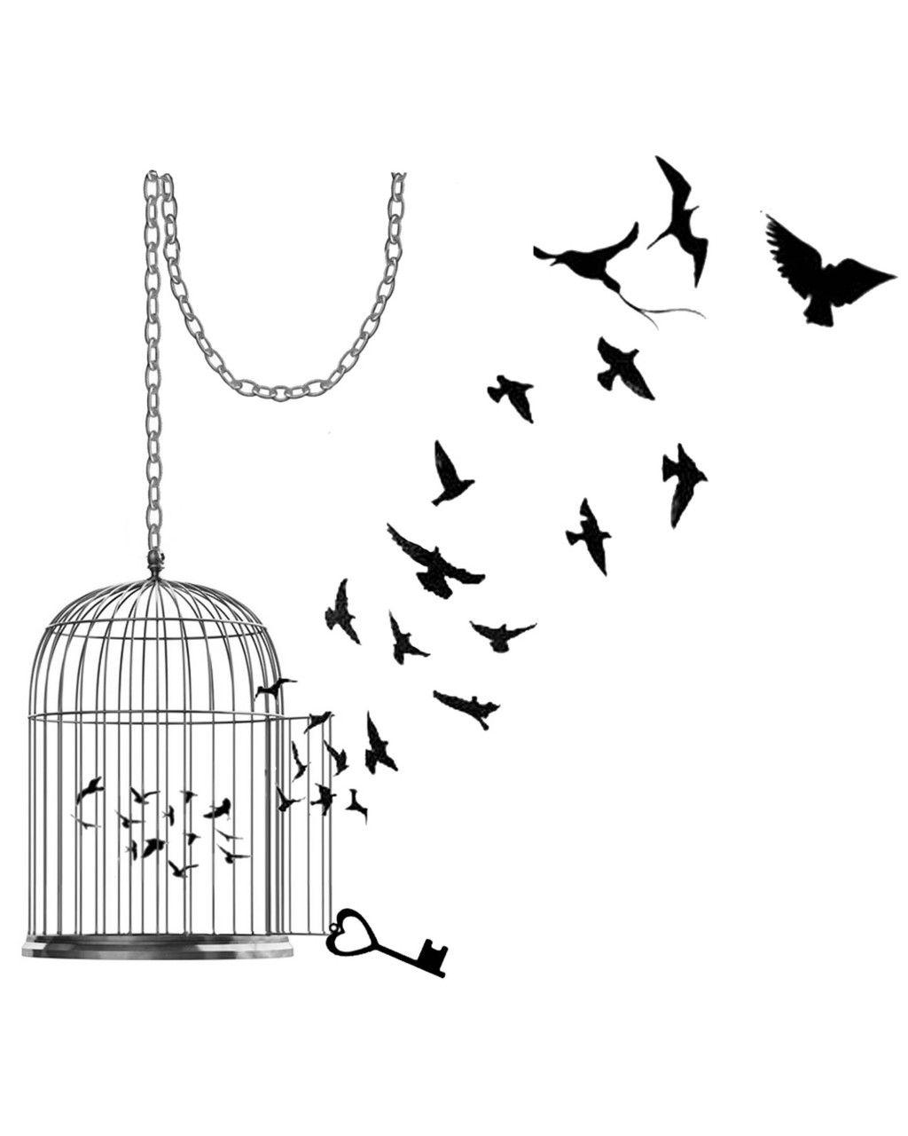 Modèle De Uage À Imprimer : 40 Dessins De Tattoos pour Dessin De Cage D Oiseau