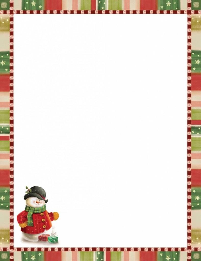 Modèle Papier À Lettre De Noel À Imprimer Gratuitement tout Papier Lettre De Noel