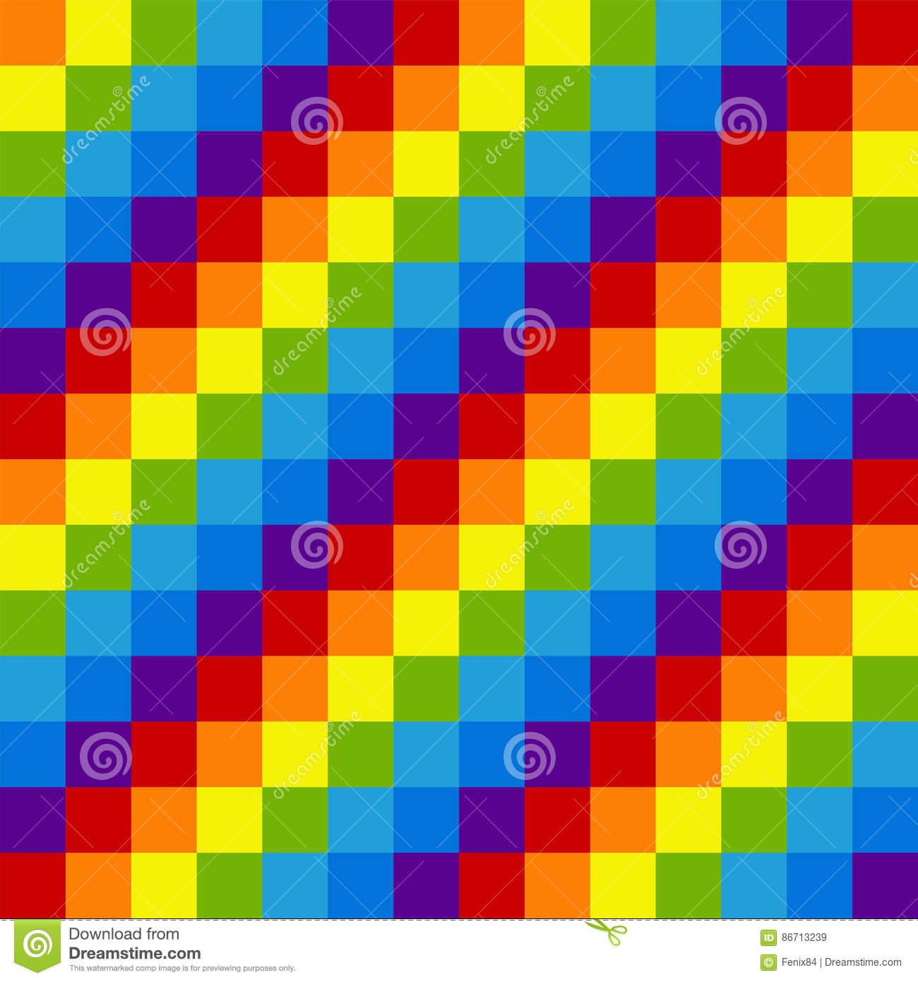 Modèle Sans Couture De Pixel D'arc-En-Ciel Squ Diagonal à Modele Dessin Pixel