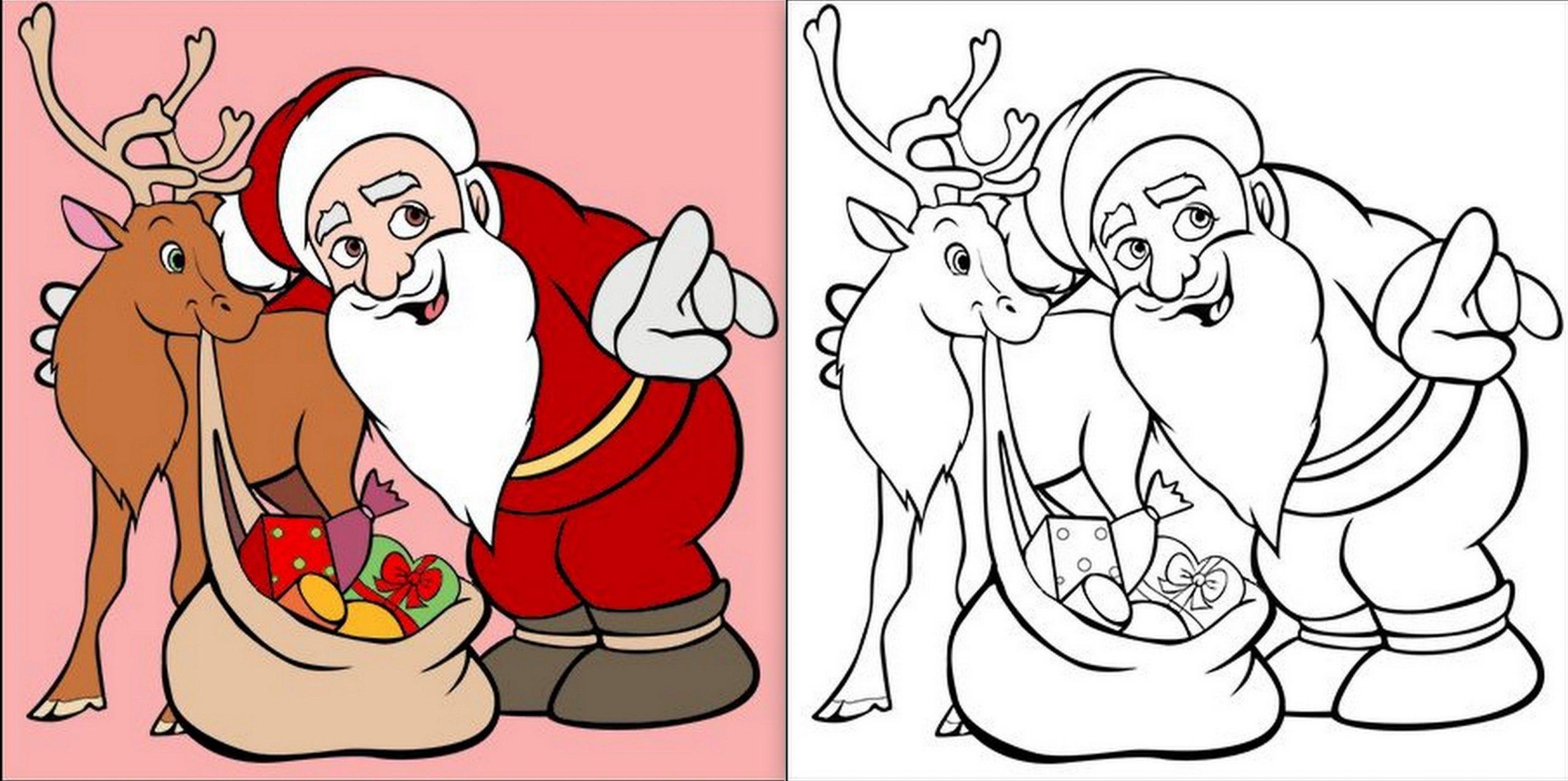 Modèles De Père Noël À Dessiner, Colorier Ou Découper avec Pere Noel A Imprimer Et A Decouper