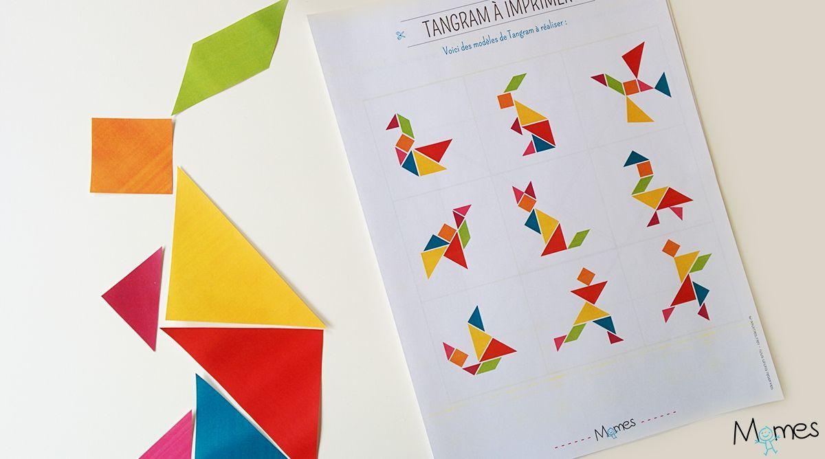 Modèles De Tangram À Imprimer | Tangram À Imprimer, Jeux destiné Tangram Moyenne Section