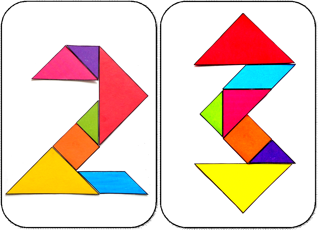 Modèles Pour Jeu Tangram À Imprimer: Maternelle,ms,gs,cycle avec Tangram Enfant