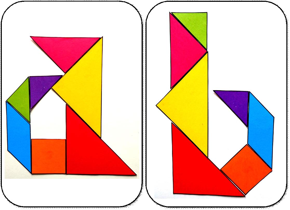 Modèles Pour Jeu Tangram À Imprimer: Maternelle,ms,gs,cycle concernant Tangram A Imprimer