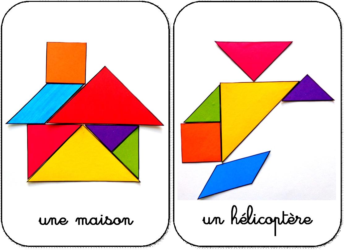 Modèles Pour Jeu Tangram À Imprimer: Maternelle,ms,gs,cycle dedans Tangram Cycle 3