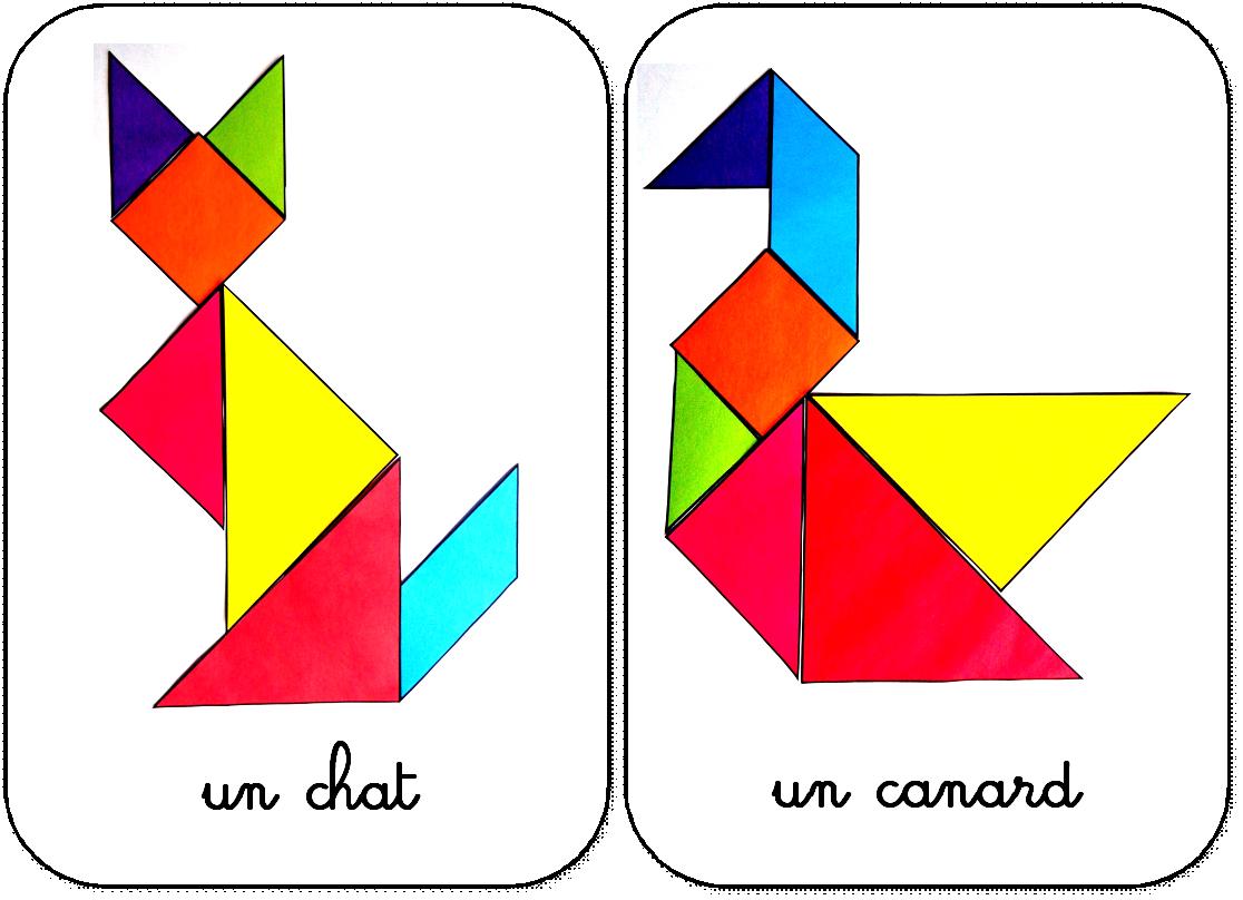 Modèles Pour Jeu Tangram À Imprimer: Maternelle,ms,gs,cycle pour Tangram A Imprimer