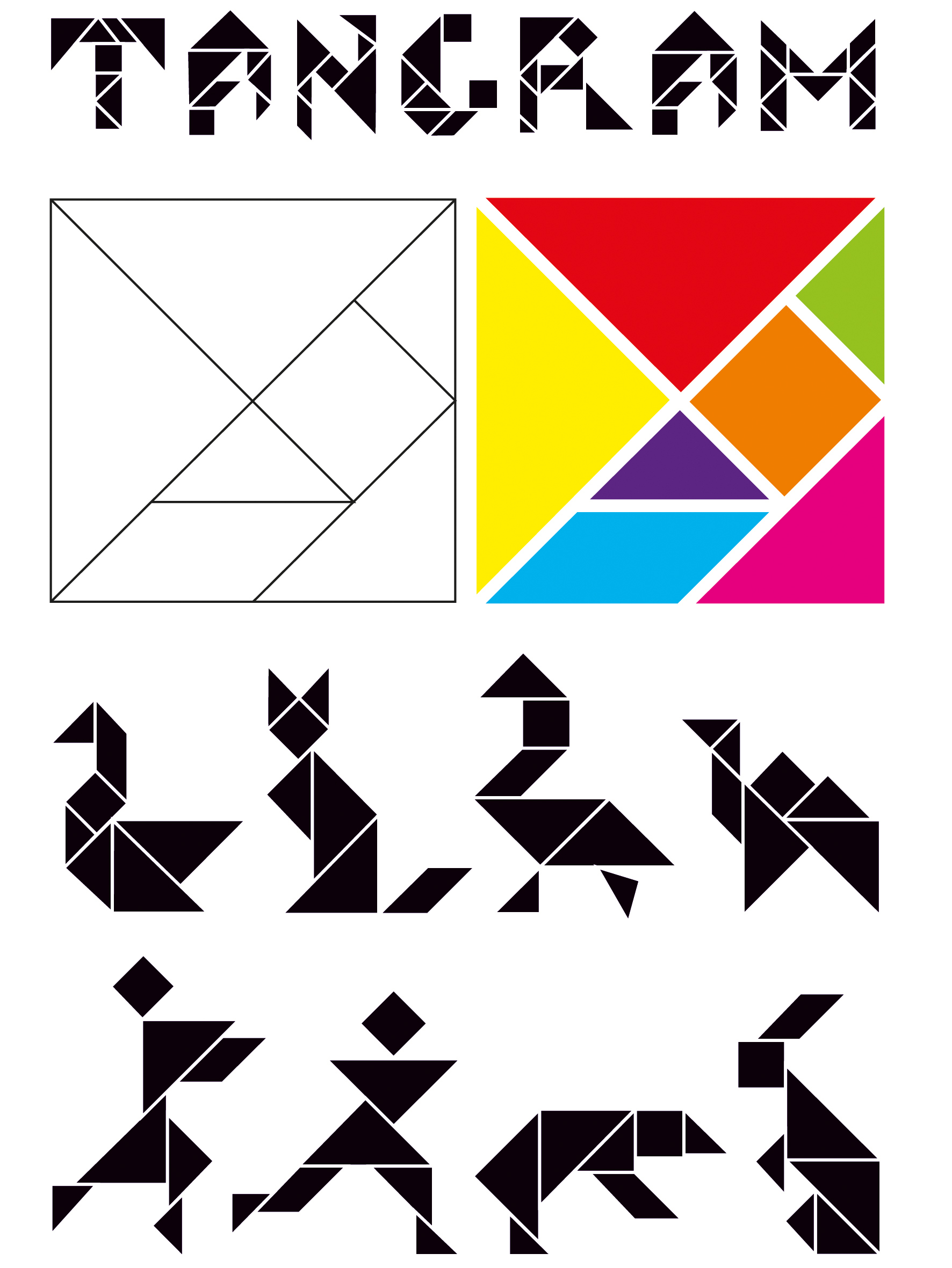 Modèles Tangram   avec Jeu De Tangram À Imprimer