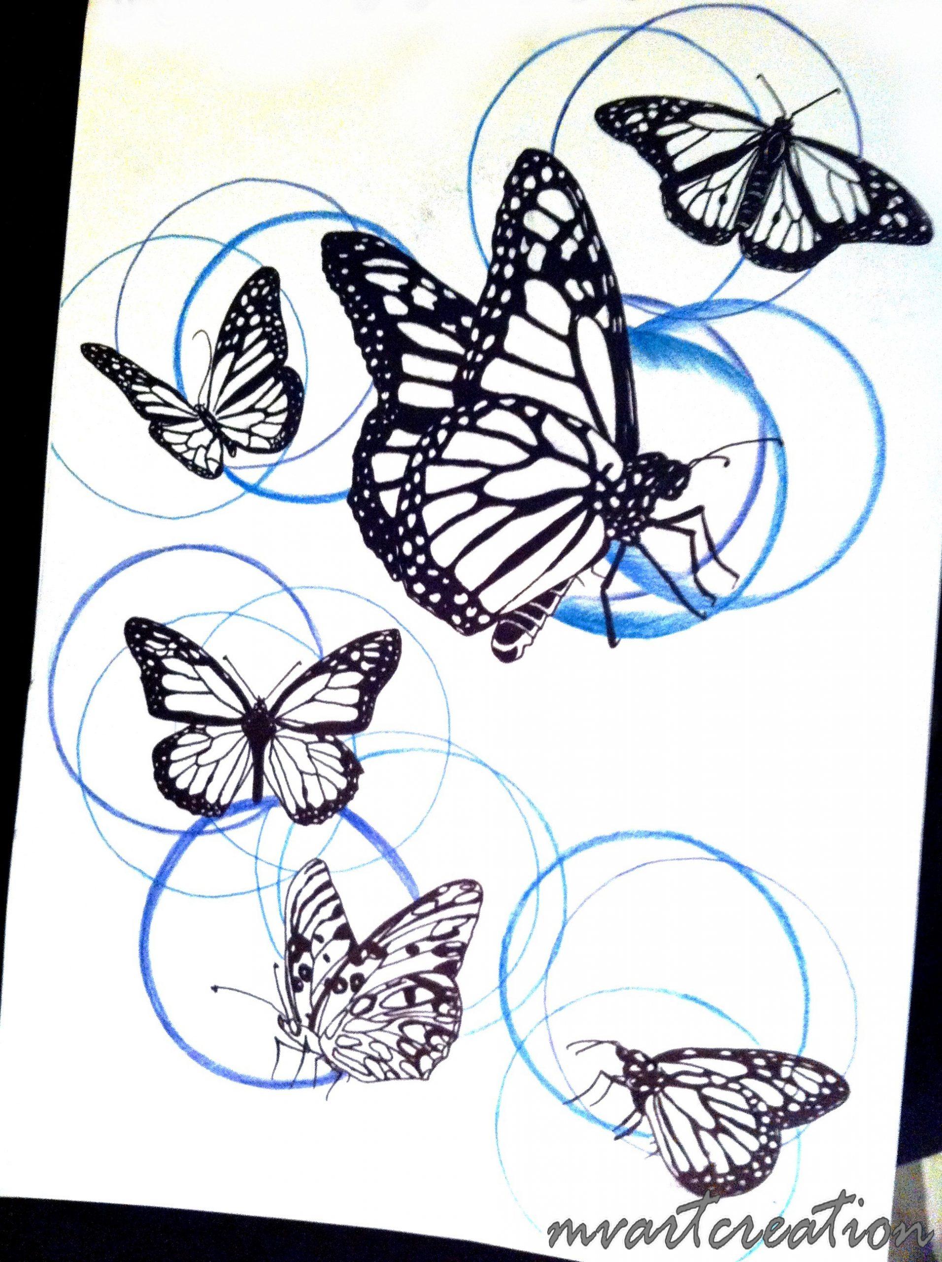 Modèles Uages | Mv Art Création pour Papillon À Dessiner