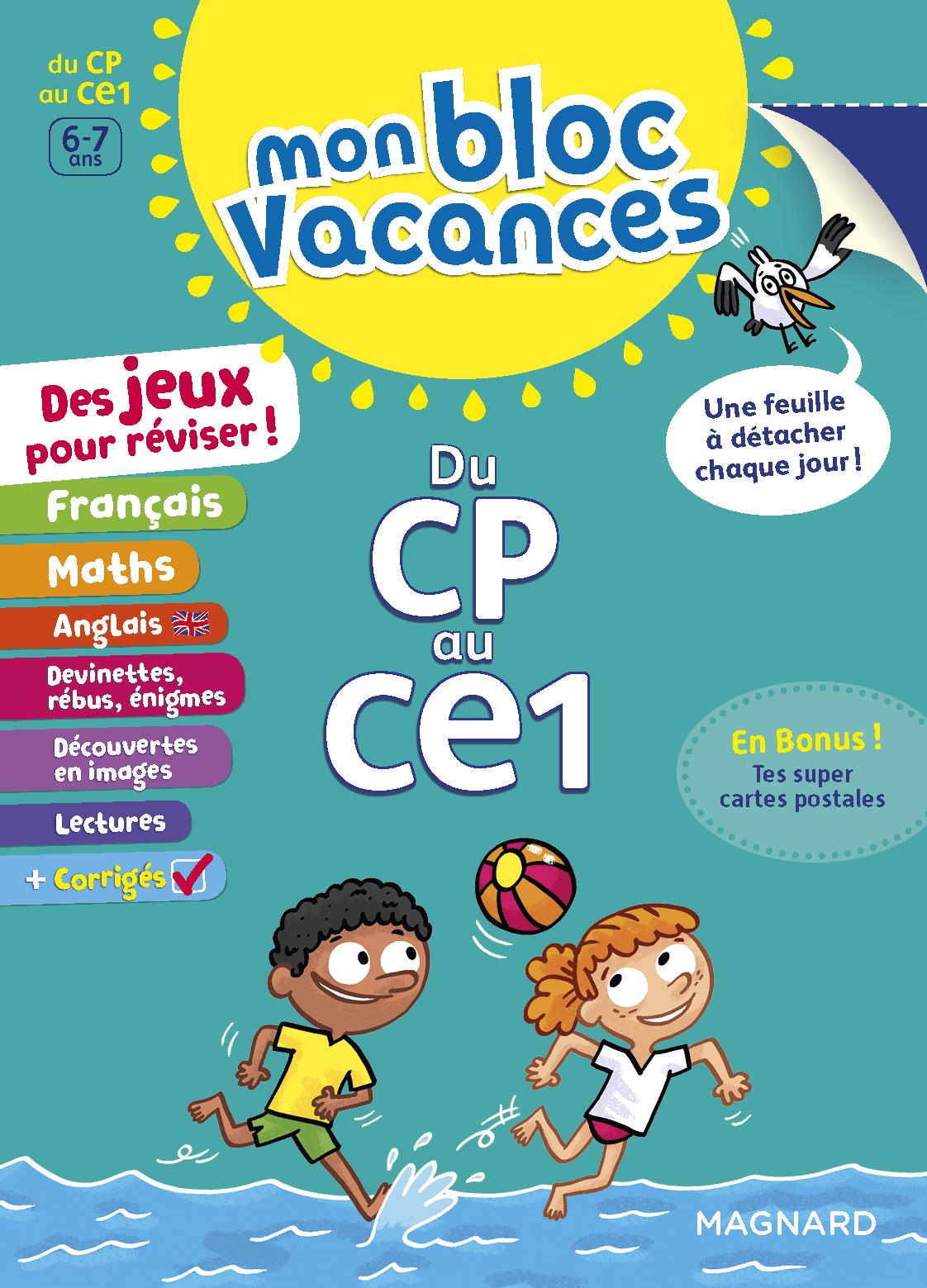 Mon Bloc Vacances Cp-Ce1 | Magnard Parascolaire destiné Jeux Educatif Ce1