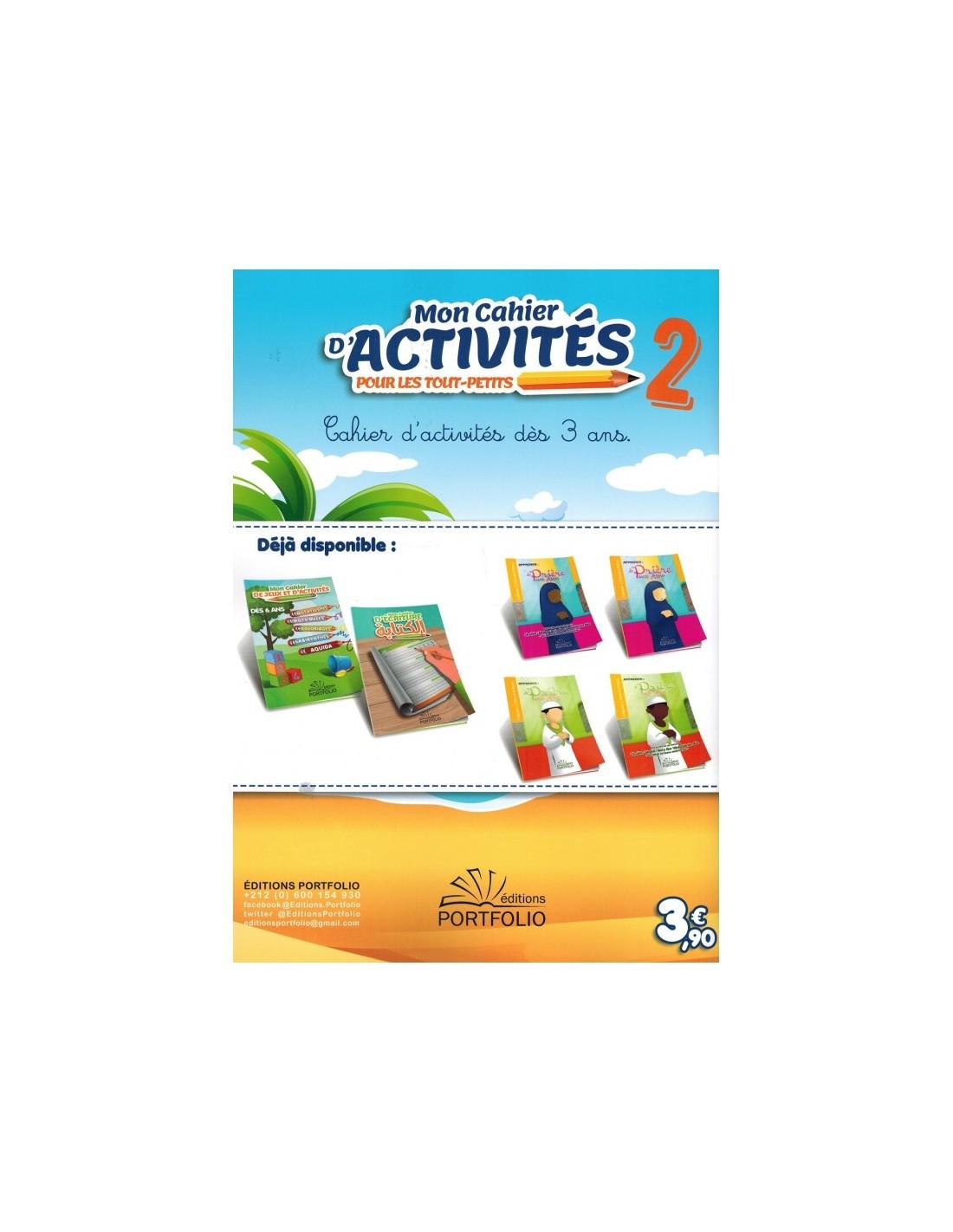 Mon Cahier D'activités Pour Les Tout-Petits (Volume 2) - Dès avec Activité 2 3 Ans