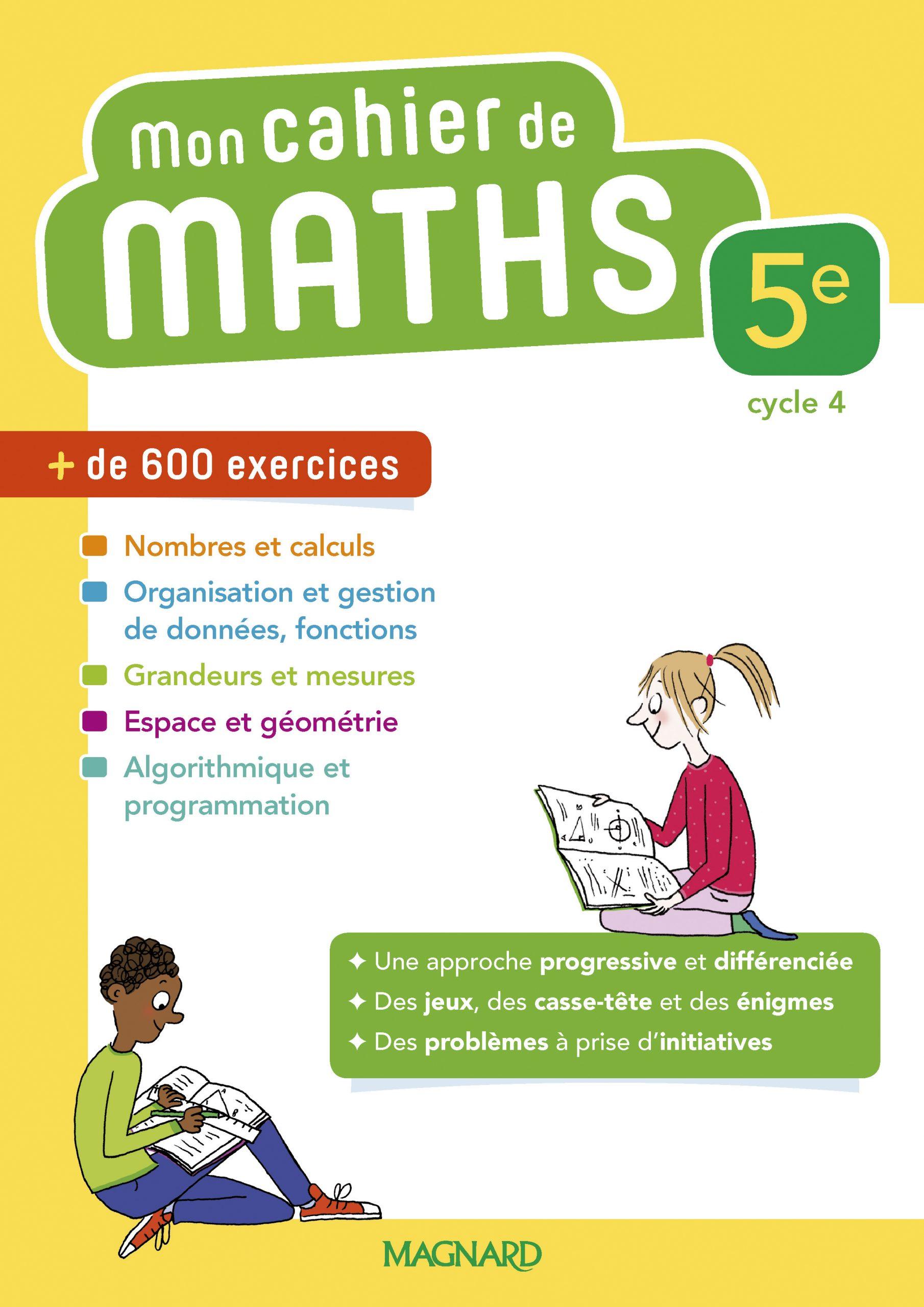 Mon Cahier De Maths 5E (2018) | Magnard Enseignants dedans Jeux De Maths Gratuit