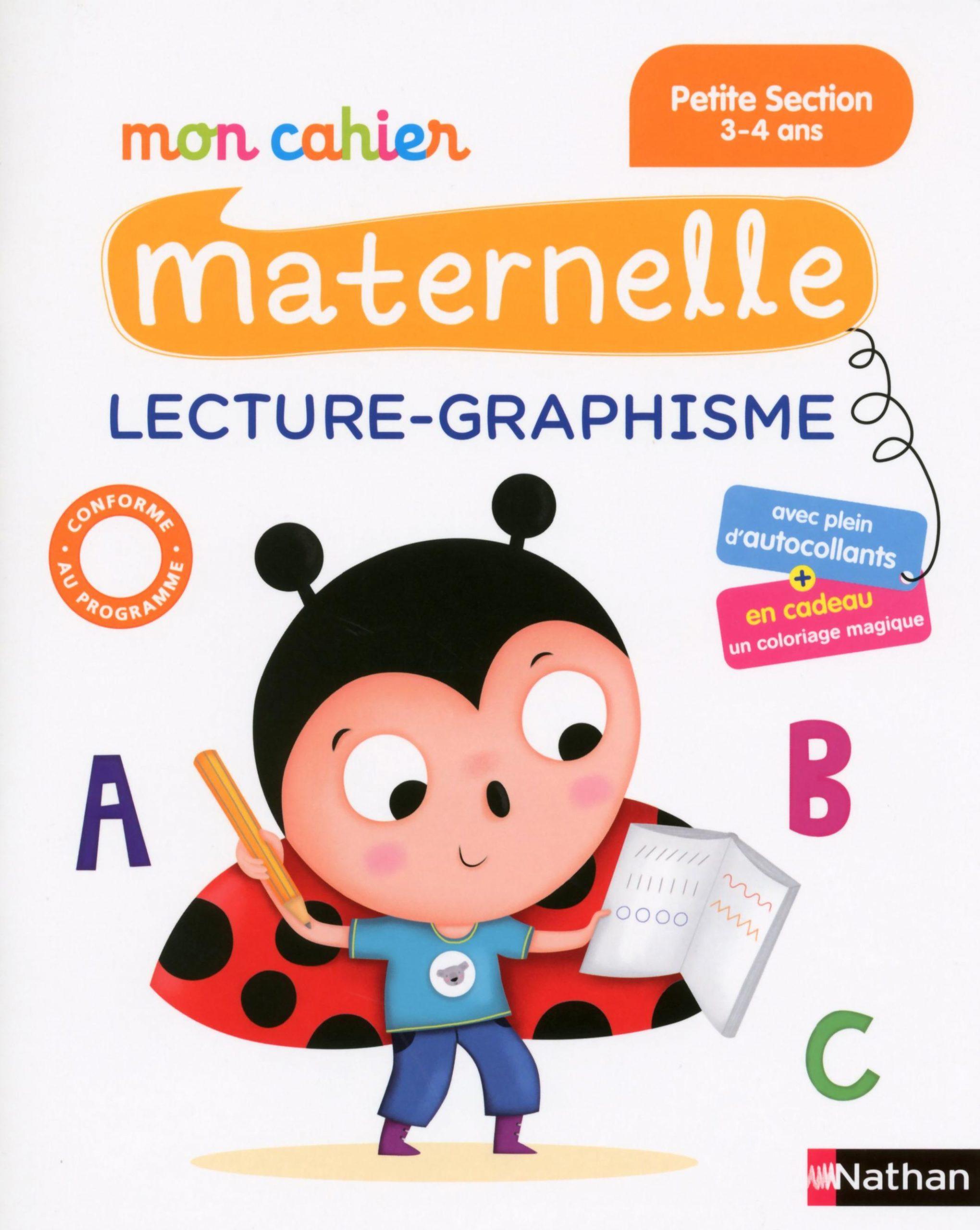 Mon Cahier Maternelle ; Lecture-Graphisme ; Petite Section tout Livre Graphisme Maternelle