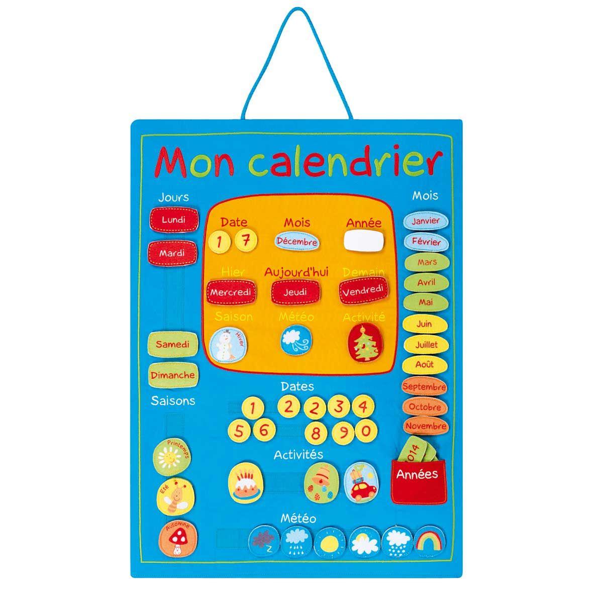 Mon Calendrier Pour Enfant De 4 Ans À 7 Ans - Oxybul Éveil pour Jeu Educatif 4 Ans