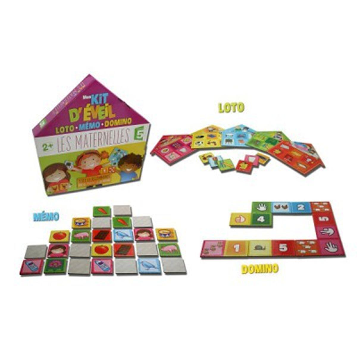 Mon Kit D'éveil Éducatif Loto Mémo Domino : Les Maternelles intérieur Jeux D Apprentissage Maternelle