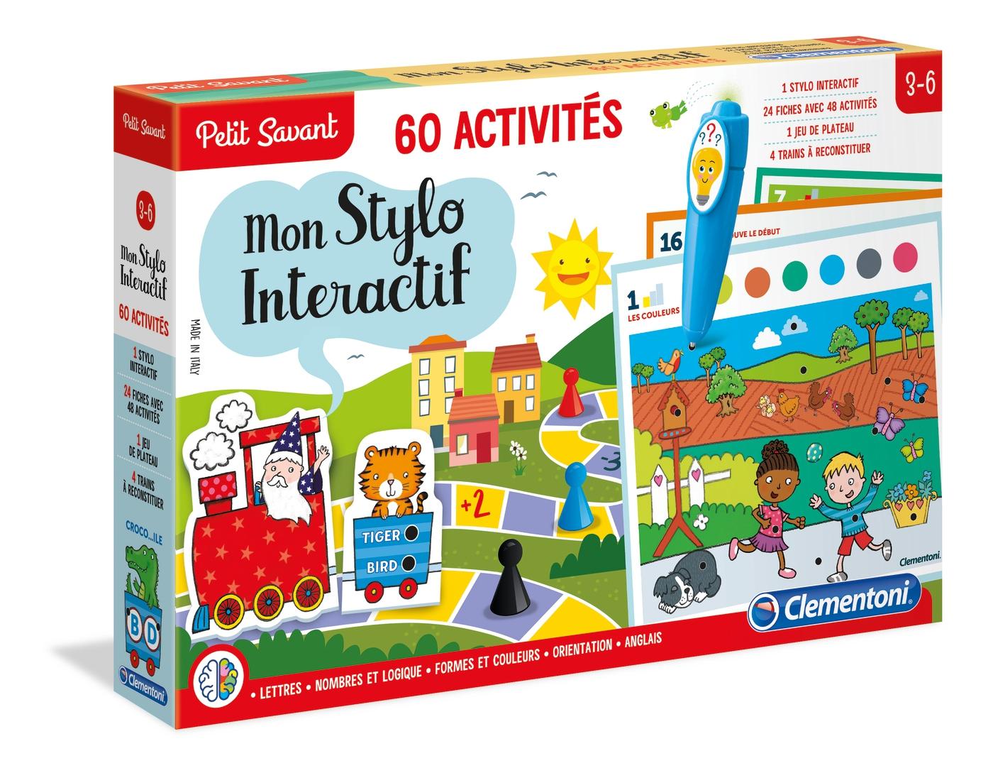 Mon Stylo Interactif - 60 Activités - Clementoni dedans Jeux Interactifs 6 Ans