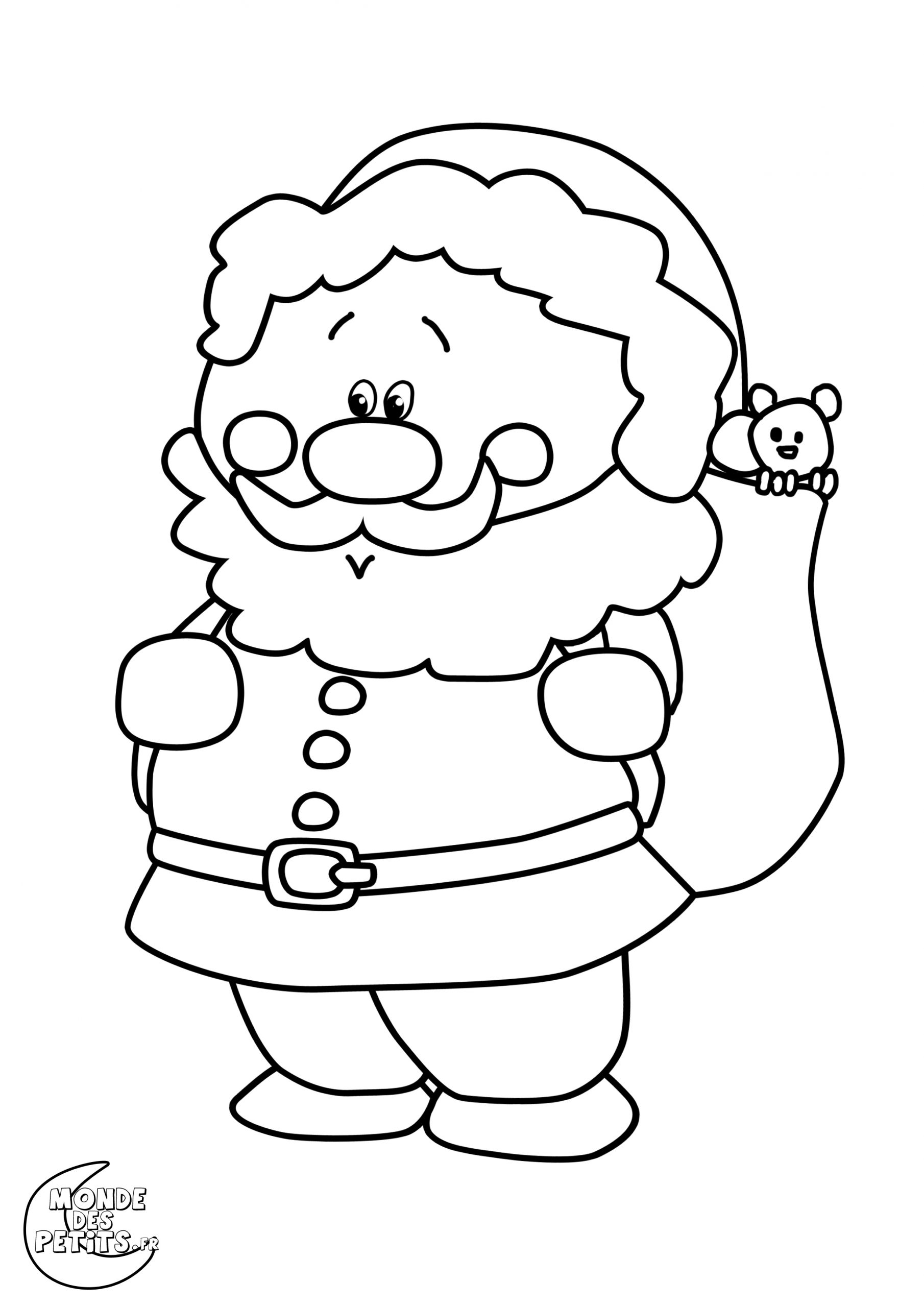 Monde Des Petits - Coloriages À Imprimer dedans Coloriage De Père Noel Gratuit A Imprimer