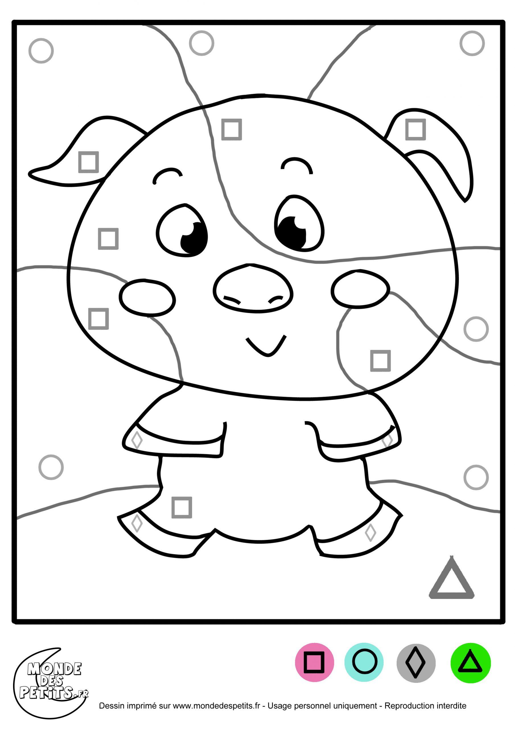 Monde Des Petits - Coloriages À Imprimer destiné Coloriage Codé Moyenne Section