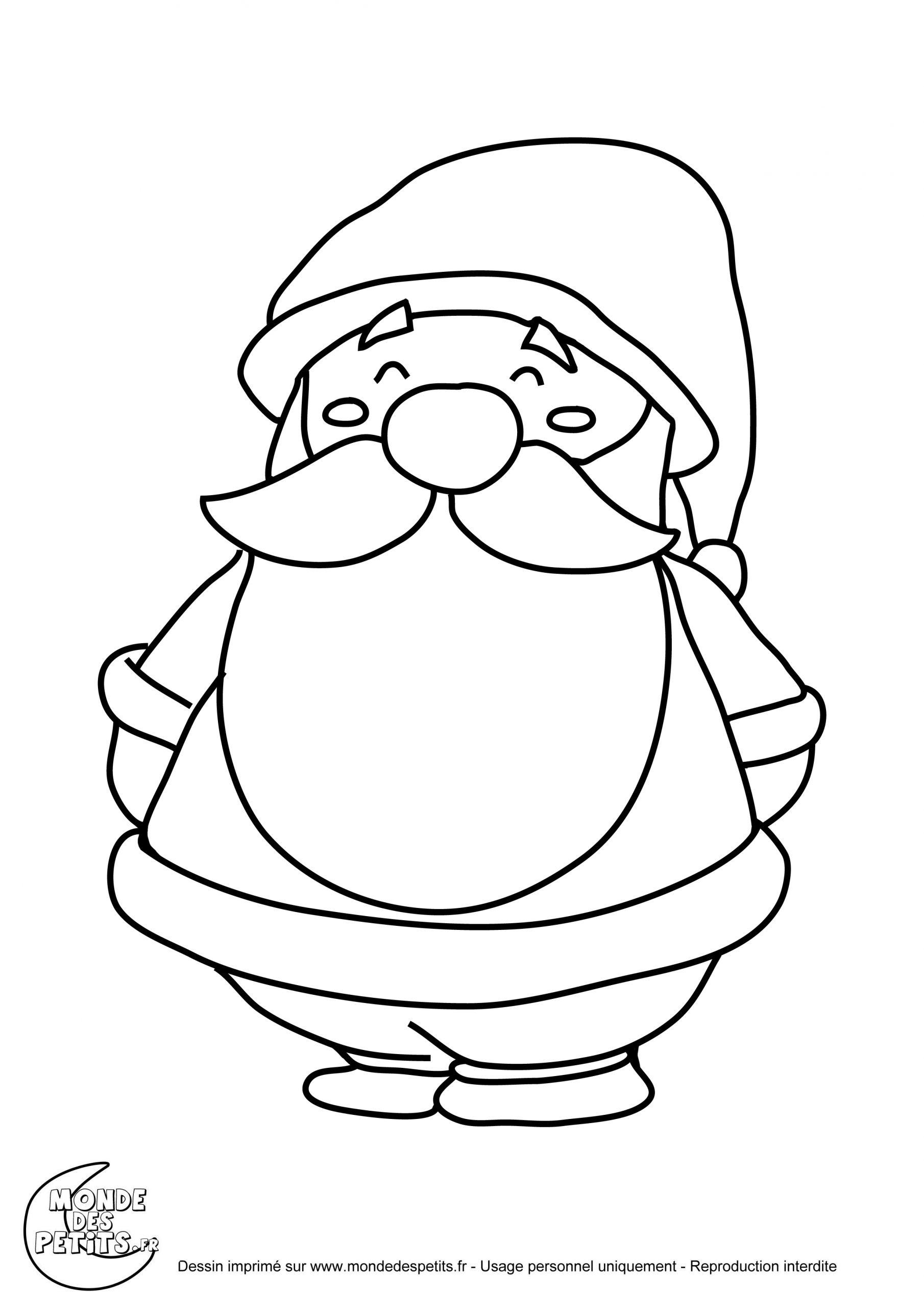 Monde Des Petits - Coloriages À Imprimer destiné Coloriage De Père Noel Gratuit A Imprimer
