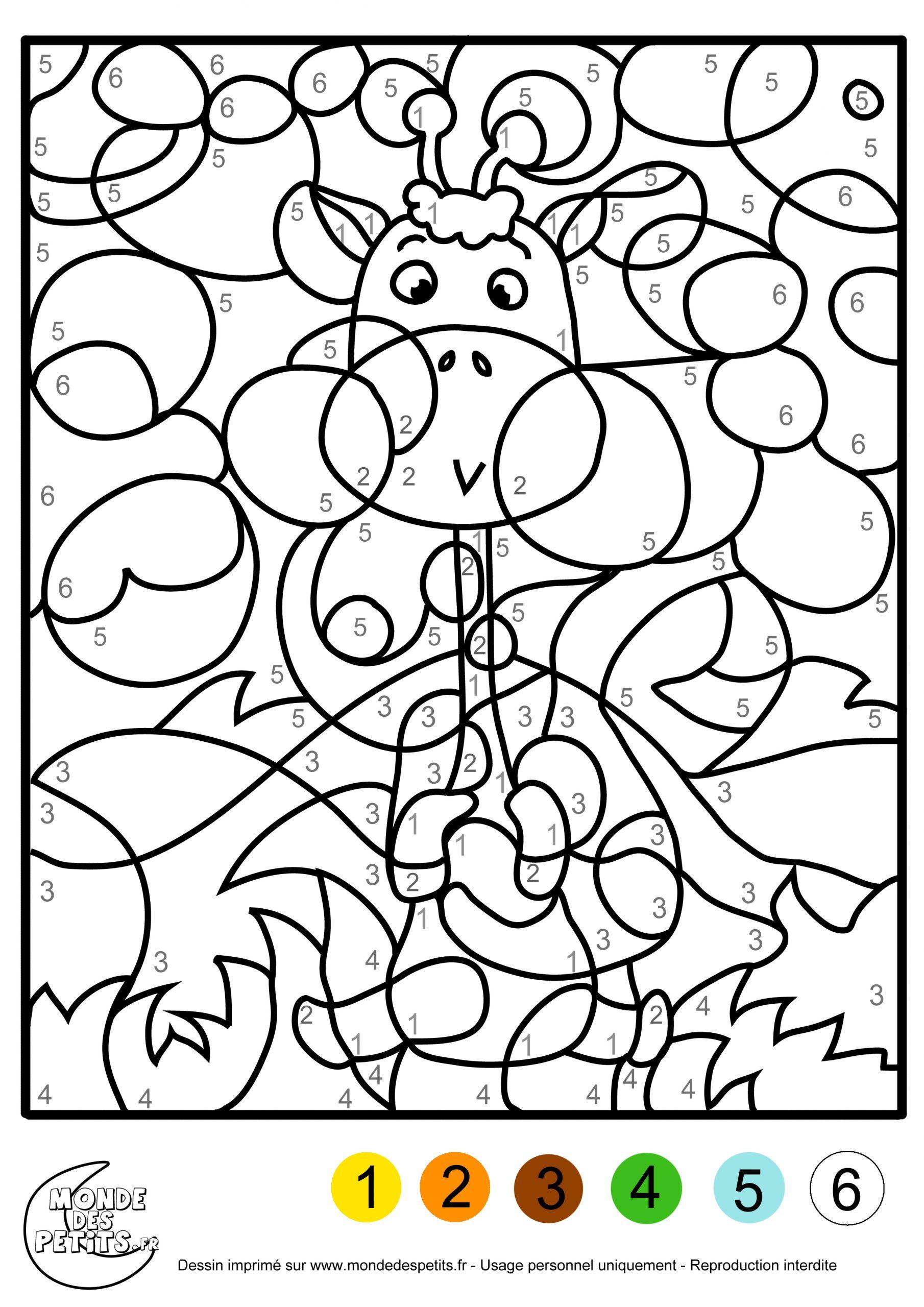Monde Des Petits - Coloriages À Imprimer intérieur Coloriage Magique 4 Ans