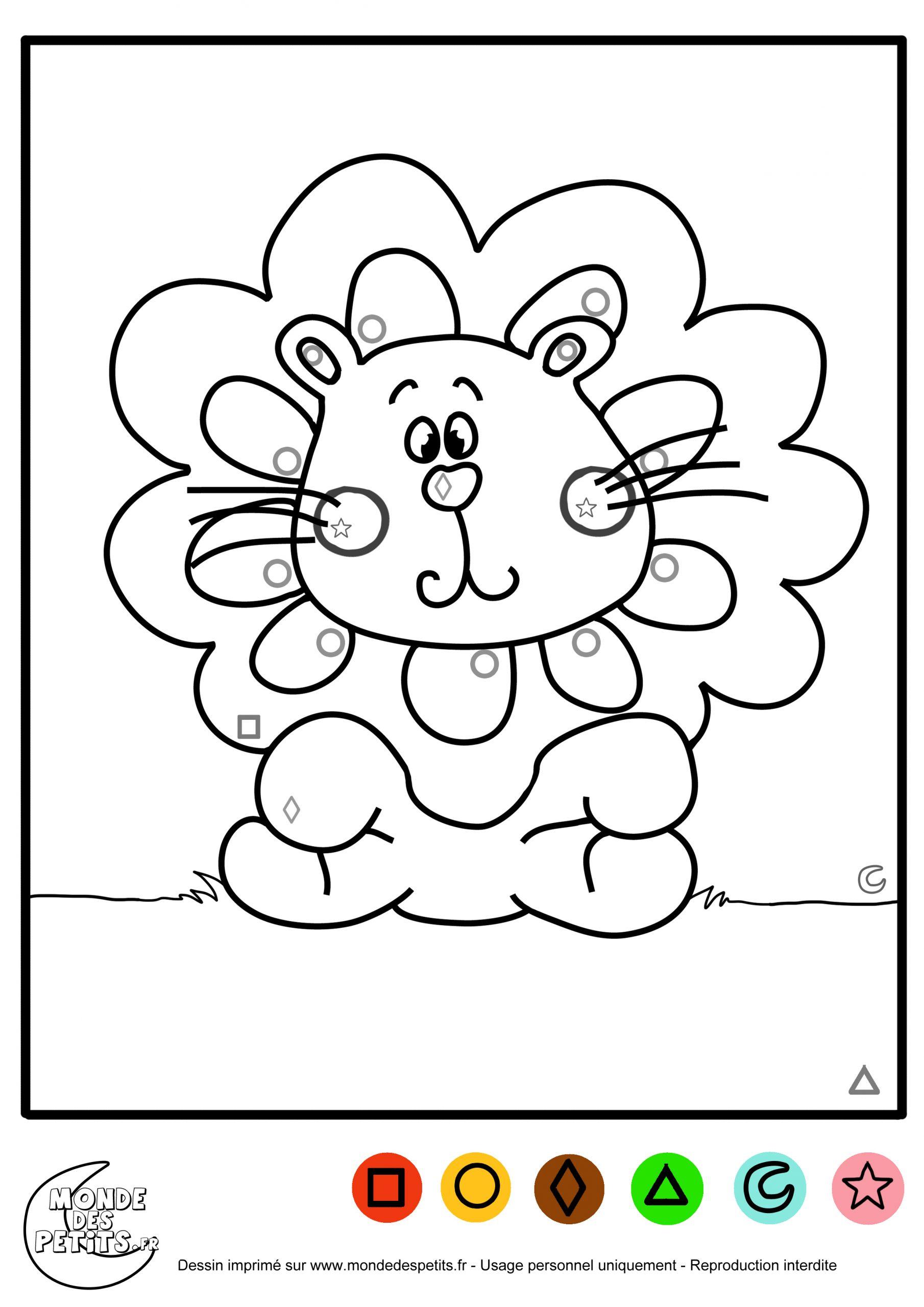 Monde Des Petits - Coloriages À Imprimer pour Coloriage Magique Petite Section